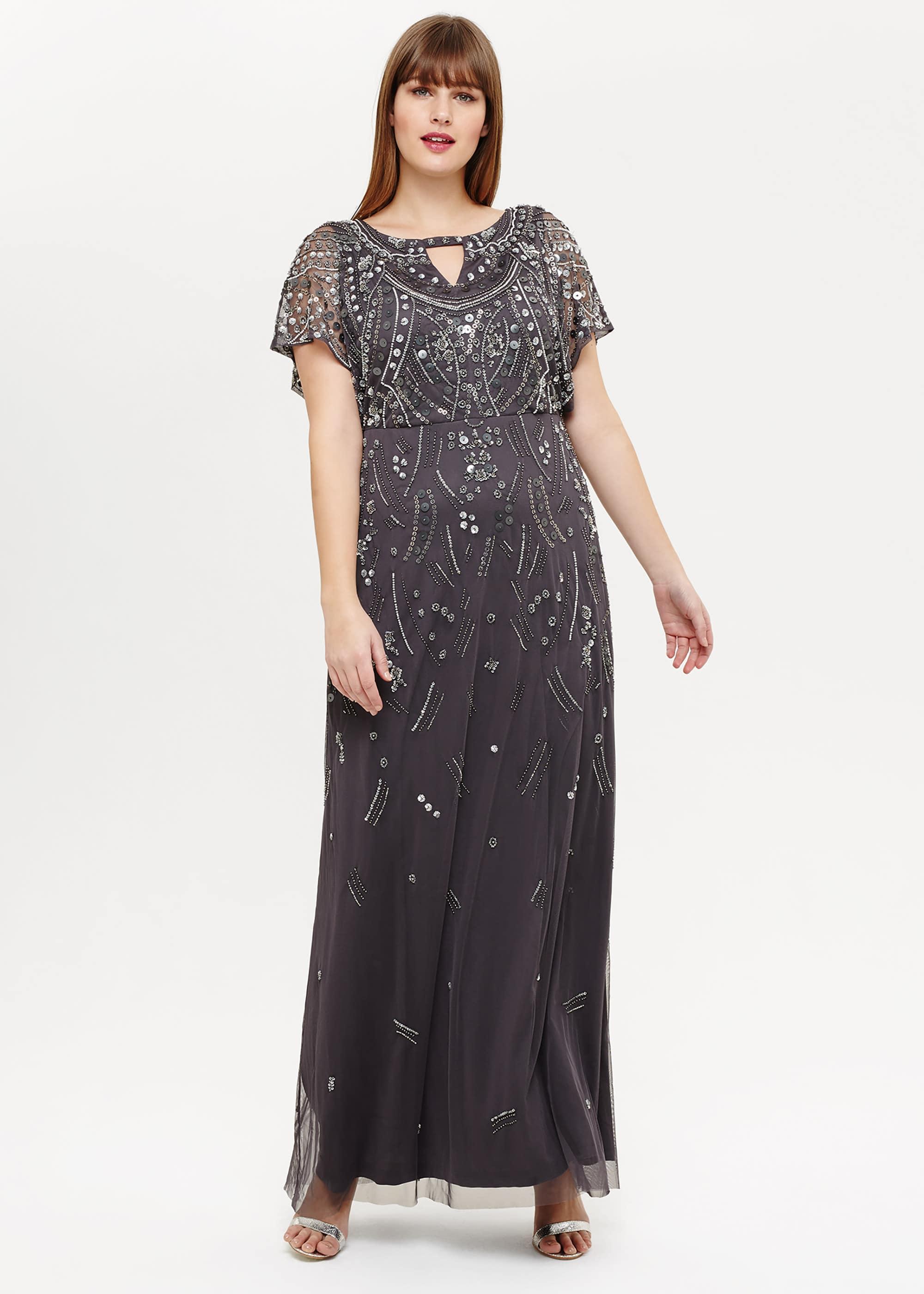 Studio 8 Women Desiree Beaded Maxi Dress