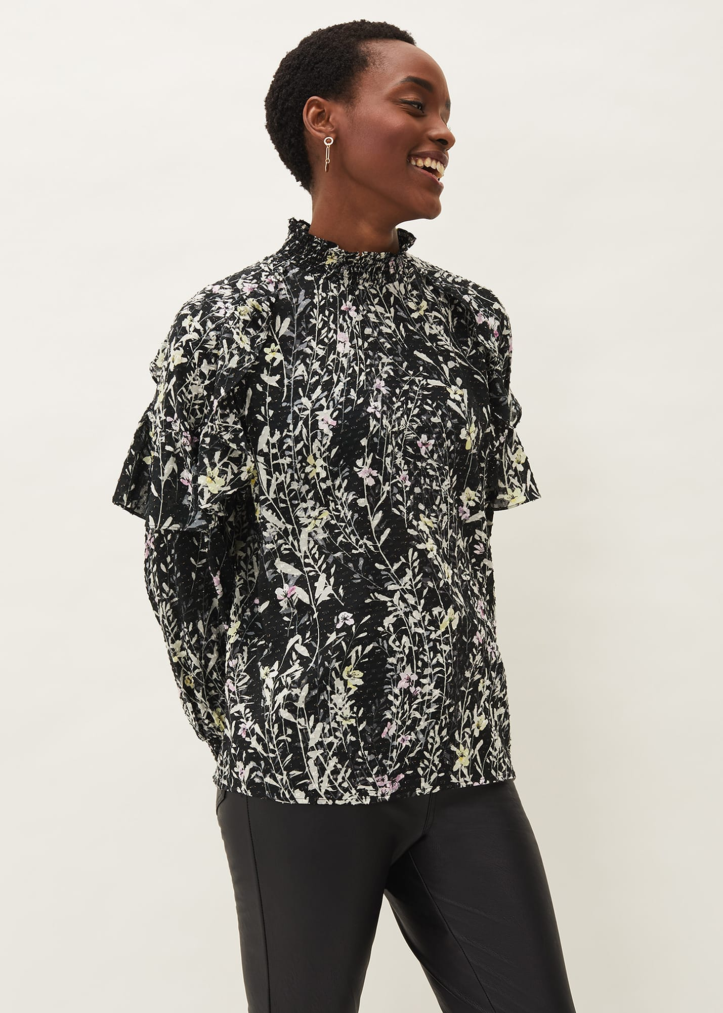 Phase Eight Women Daphne Floral Frill Blouse