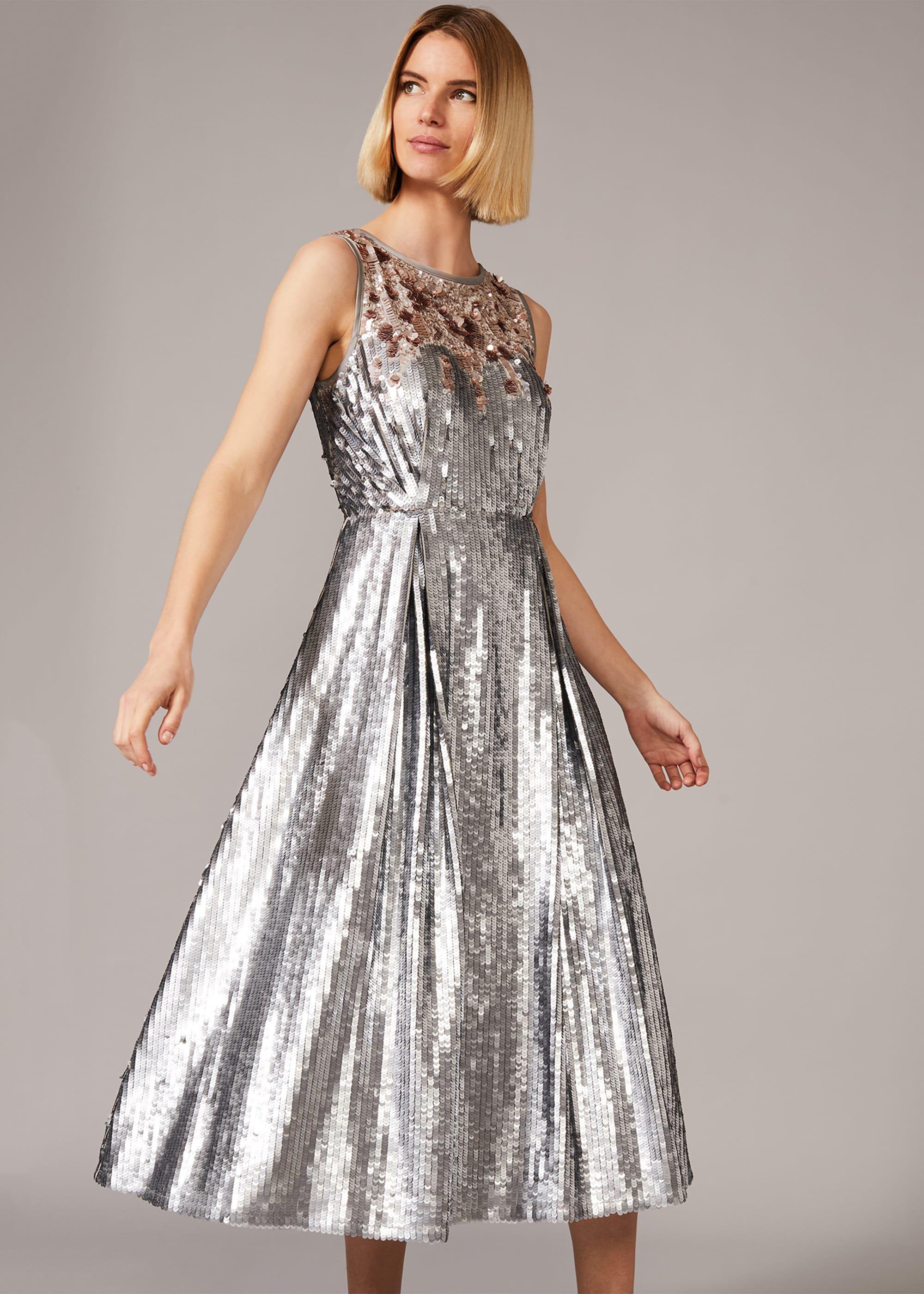 Phase Eight Women Lainey Shimmer Sequin Midi Dress