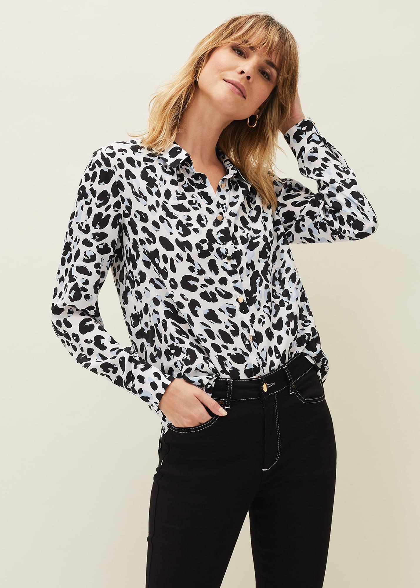 Damsel in a Dress Women Urban Leopard Blouse