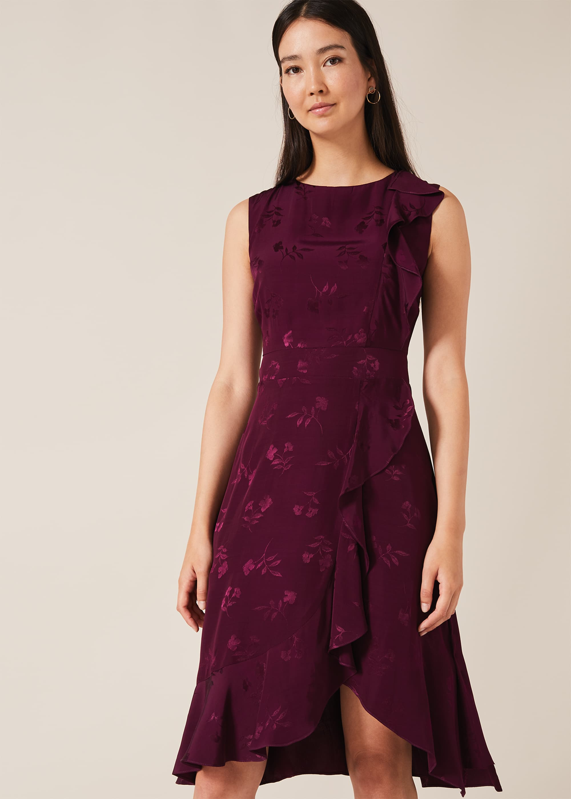 Phase Eight Women Reese Jacquard Frill Dress