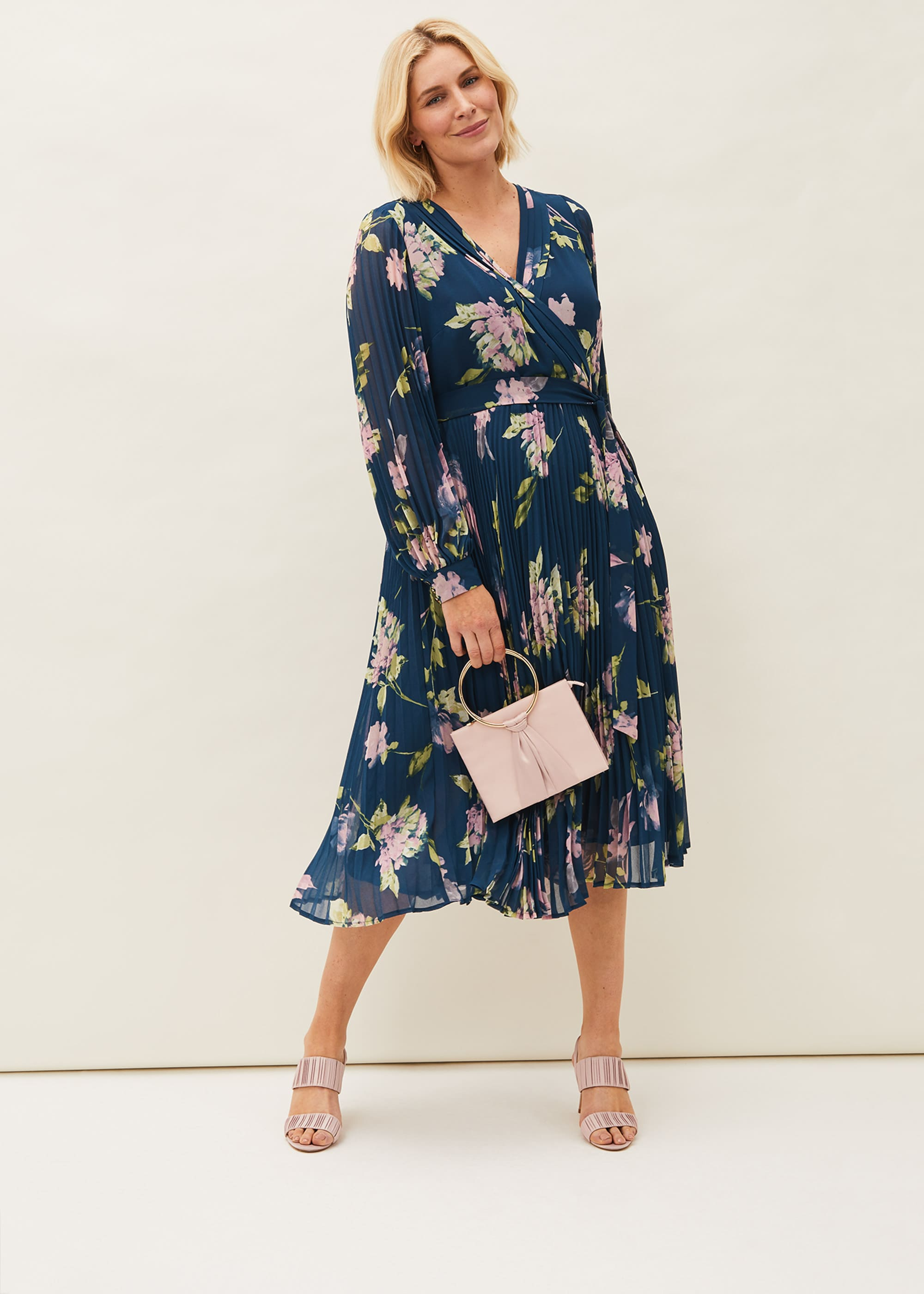 Phase Eight Women Elsa Floral Pleated Dress