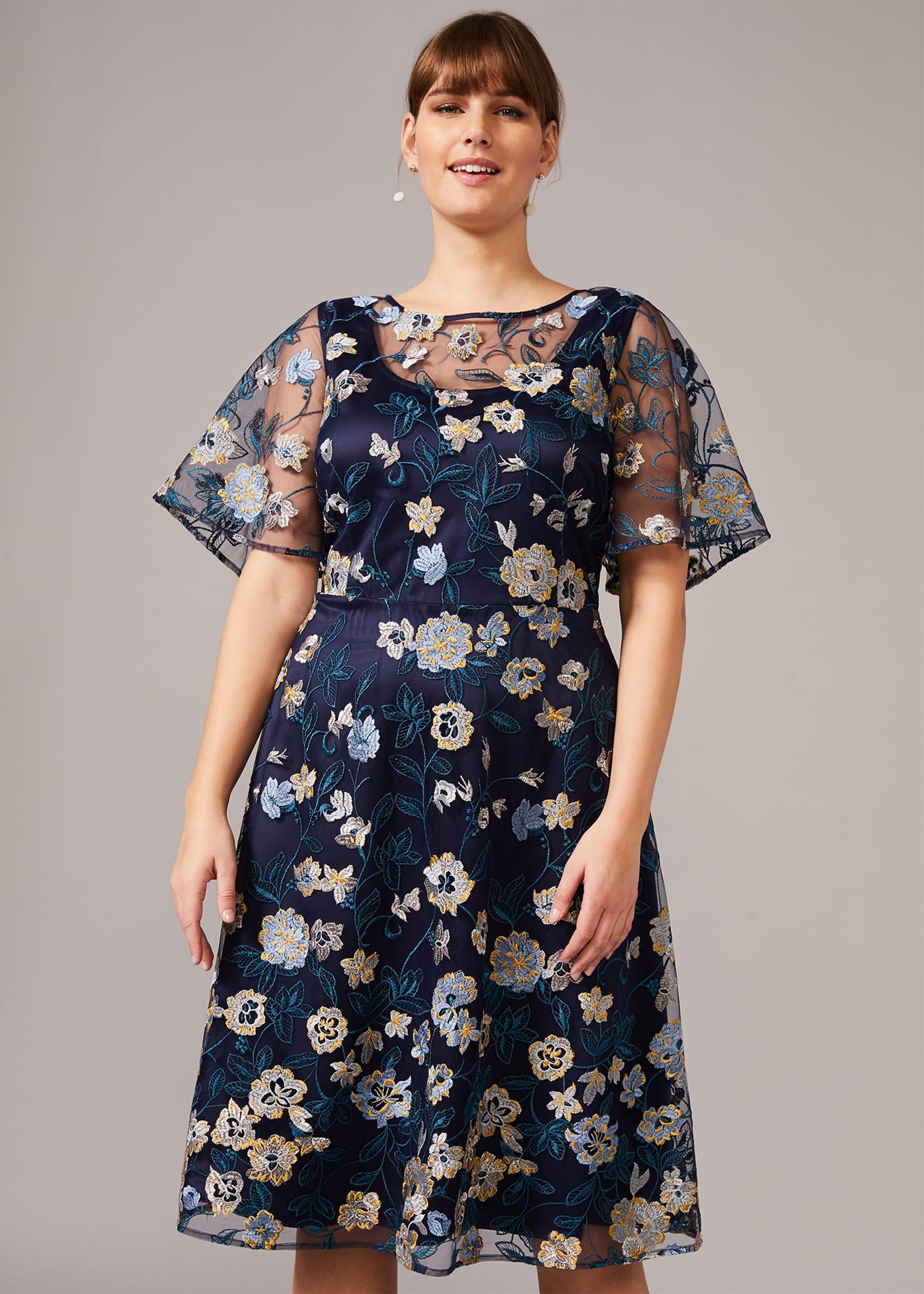 Studio 8 Women Steff Floral Embroidered Dress
