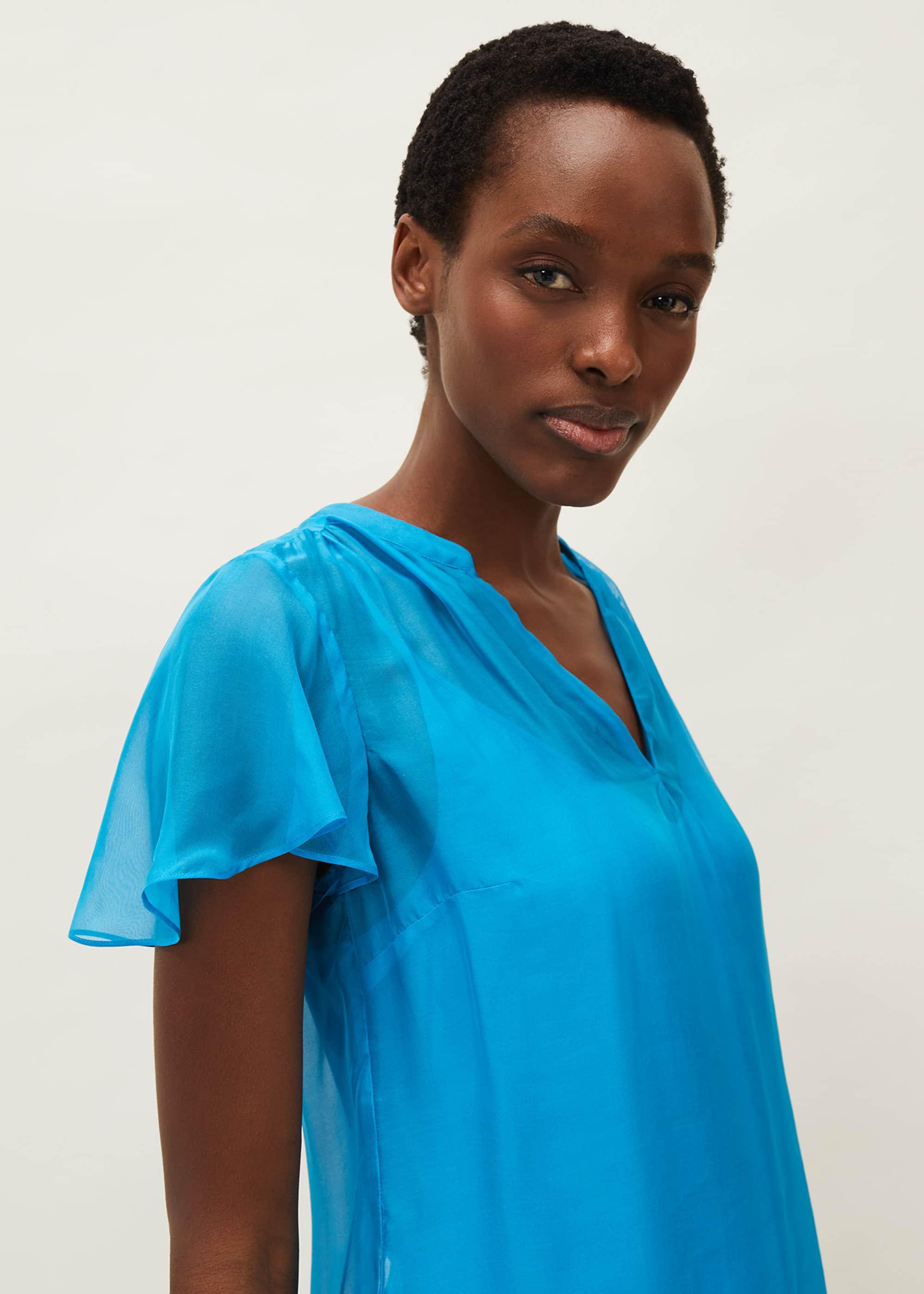 Phase Eight Women Naya Short Sleeved Silk Top