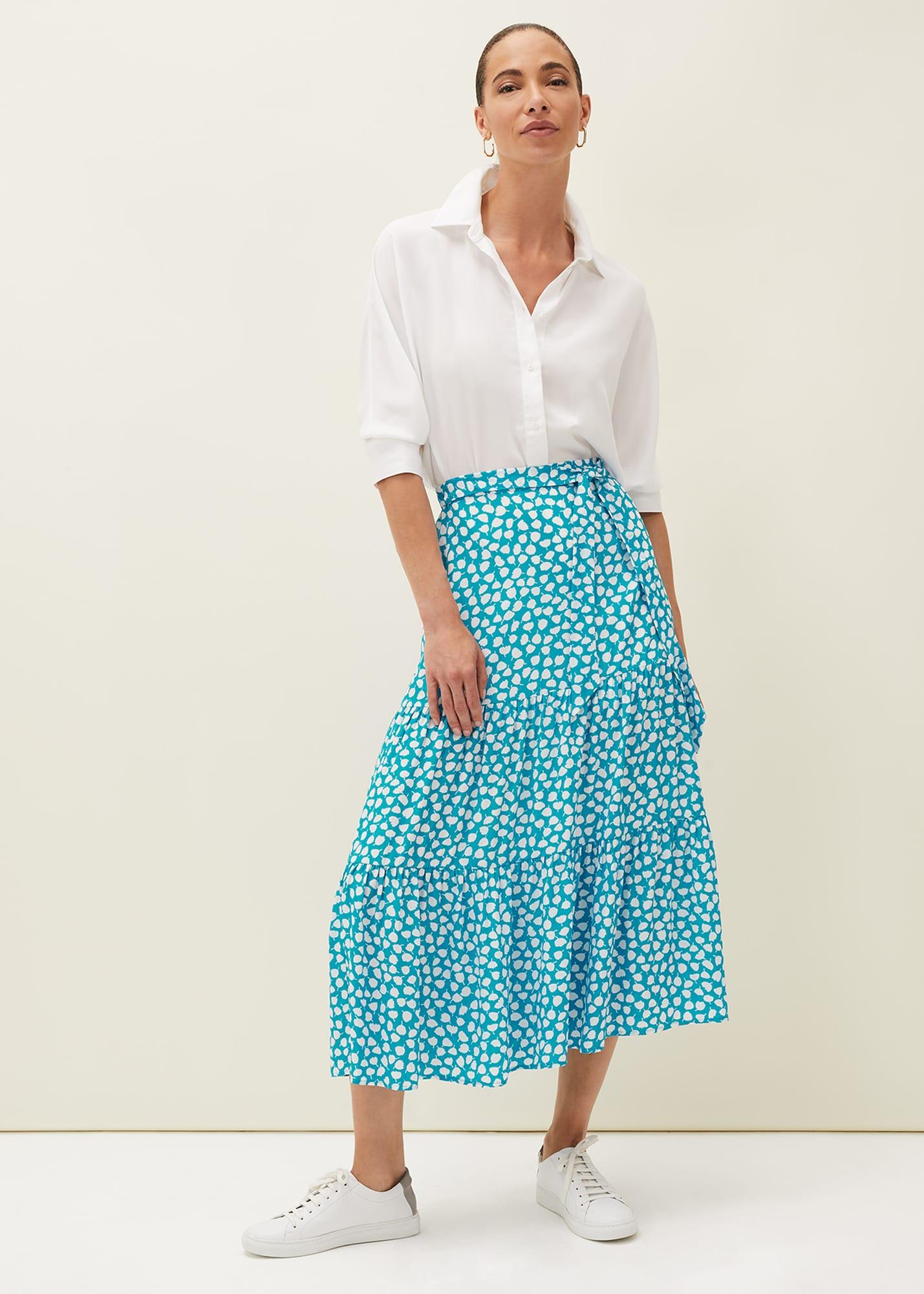 Phase Eight Women Tana Leaf Print Skirt