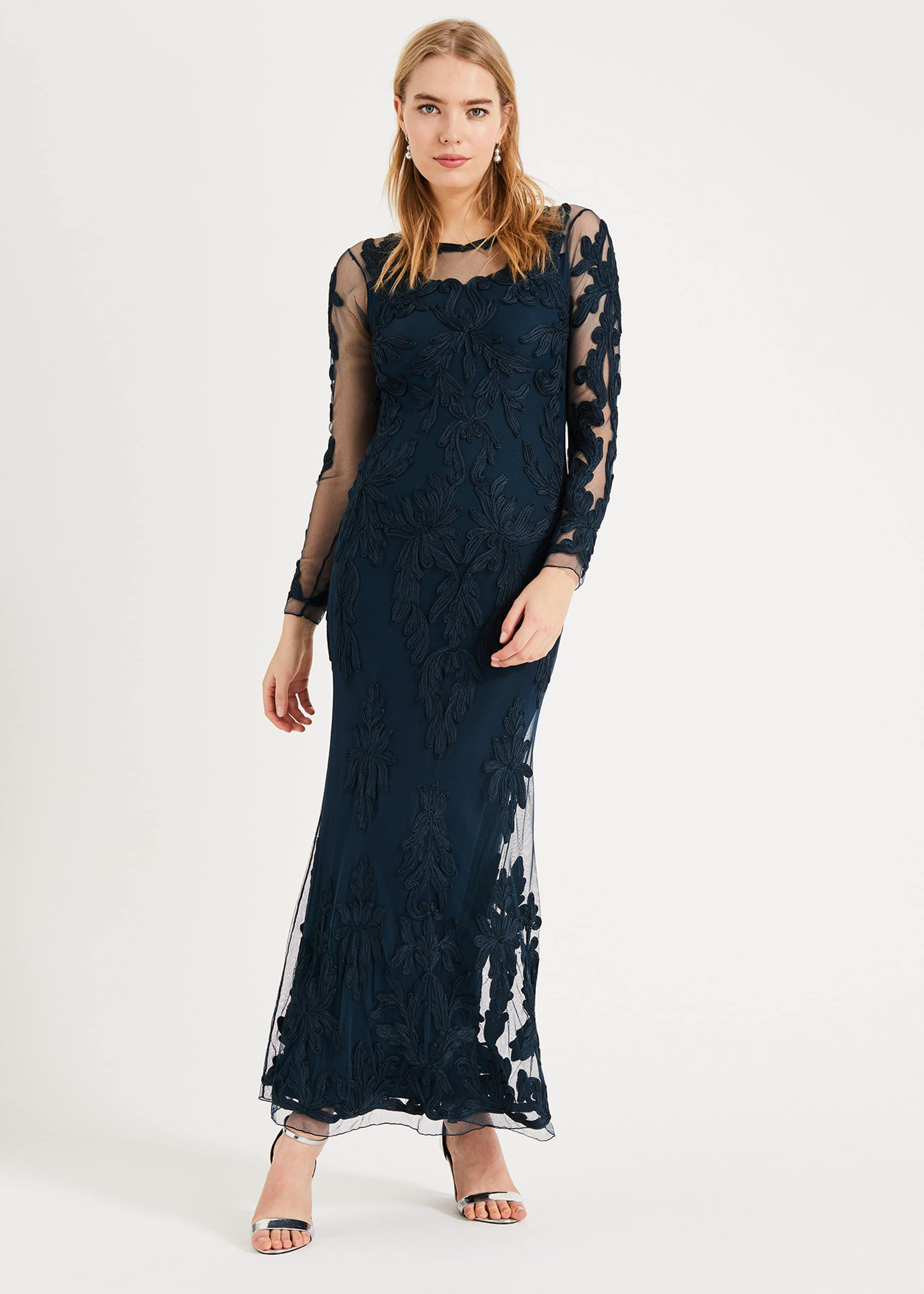 Phase Eight Women Leticia Tapework Lace Maxi Dress