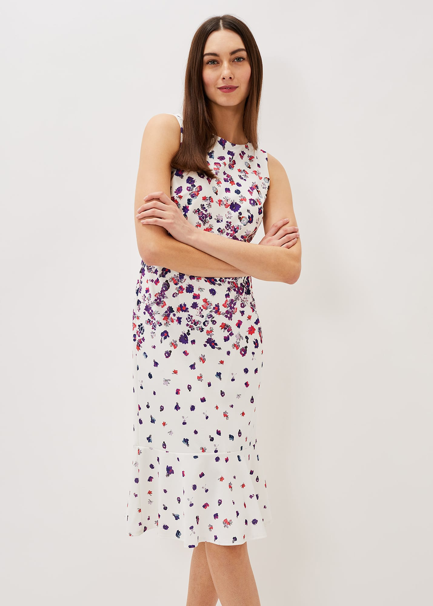 Phase Eight Women Dahlia Ditsy Floral Fitted Dress