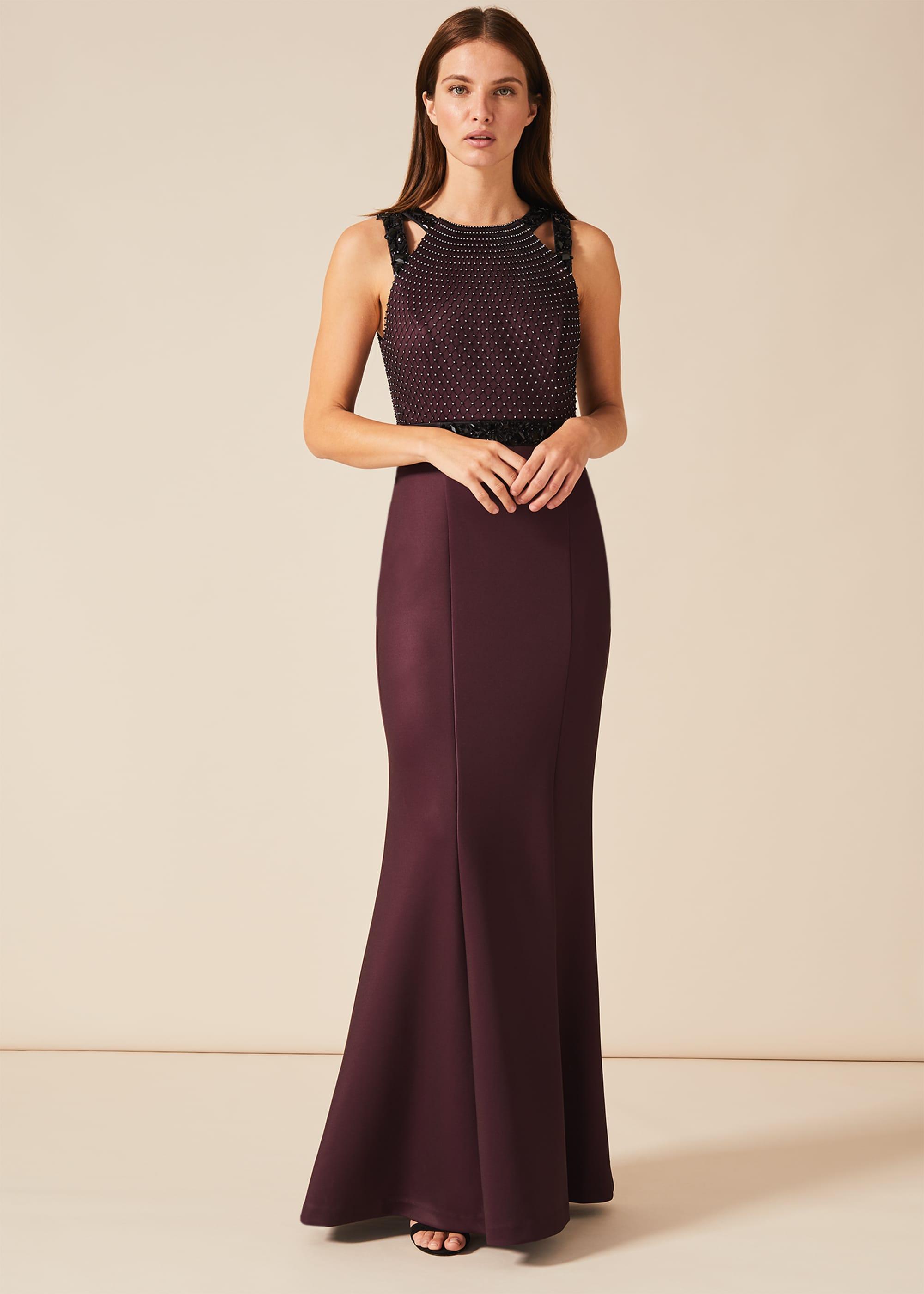 Phase Eight Women Sofia Beaded Bodice Dress