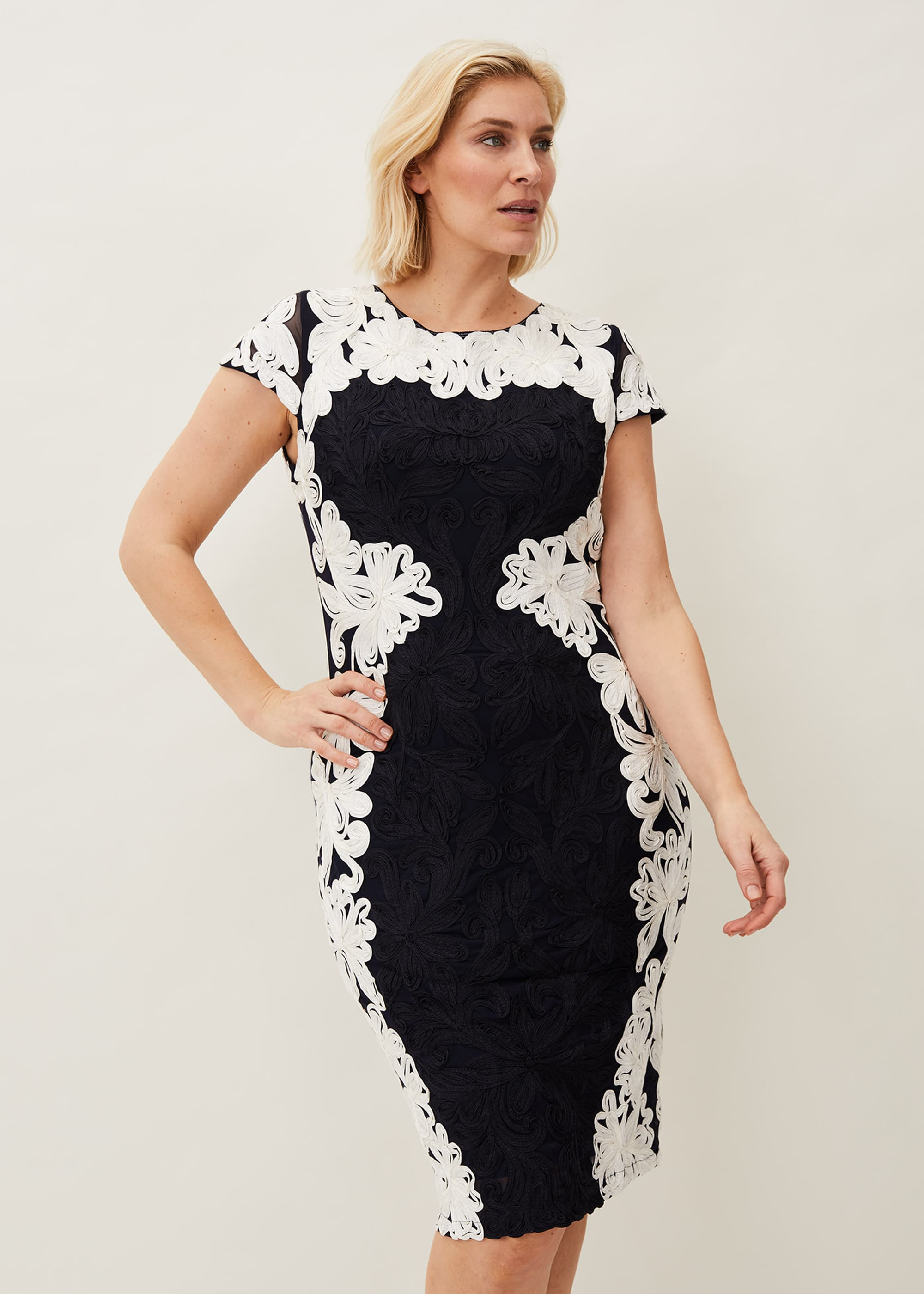 Phase Eight Women Nori Tapework Lace Fitted Dress