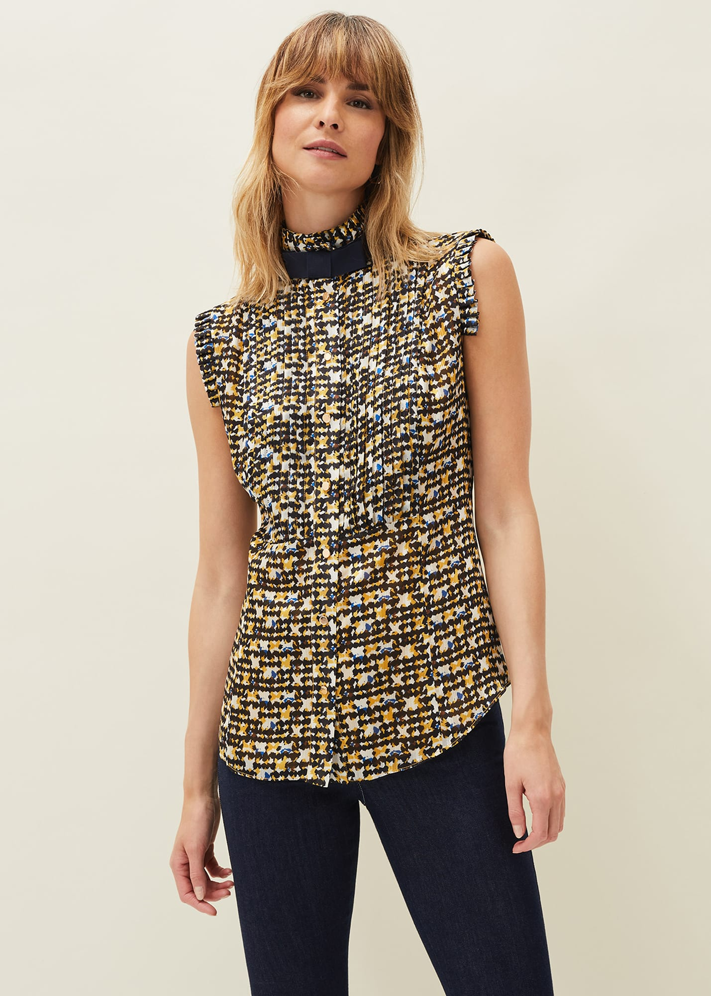 Damsel in a Dress Women Bari Print Blouse