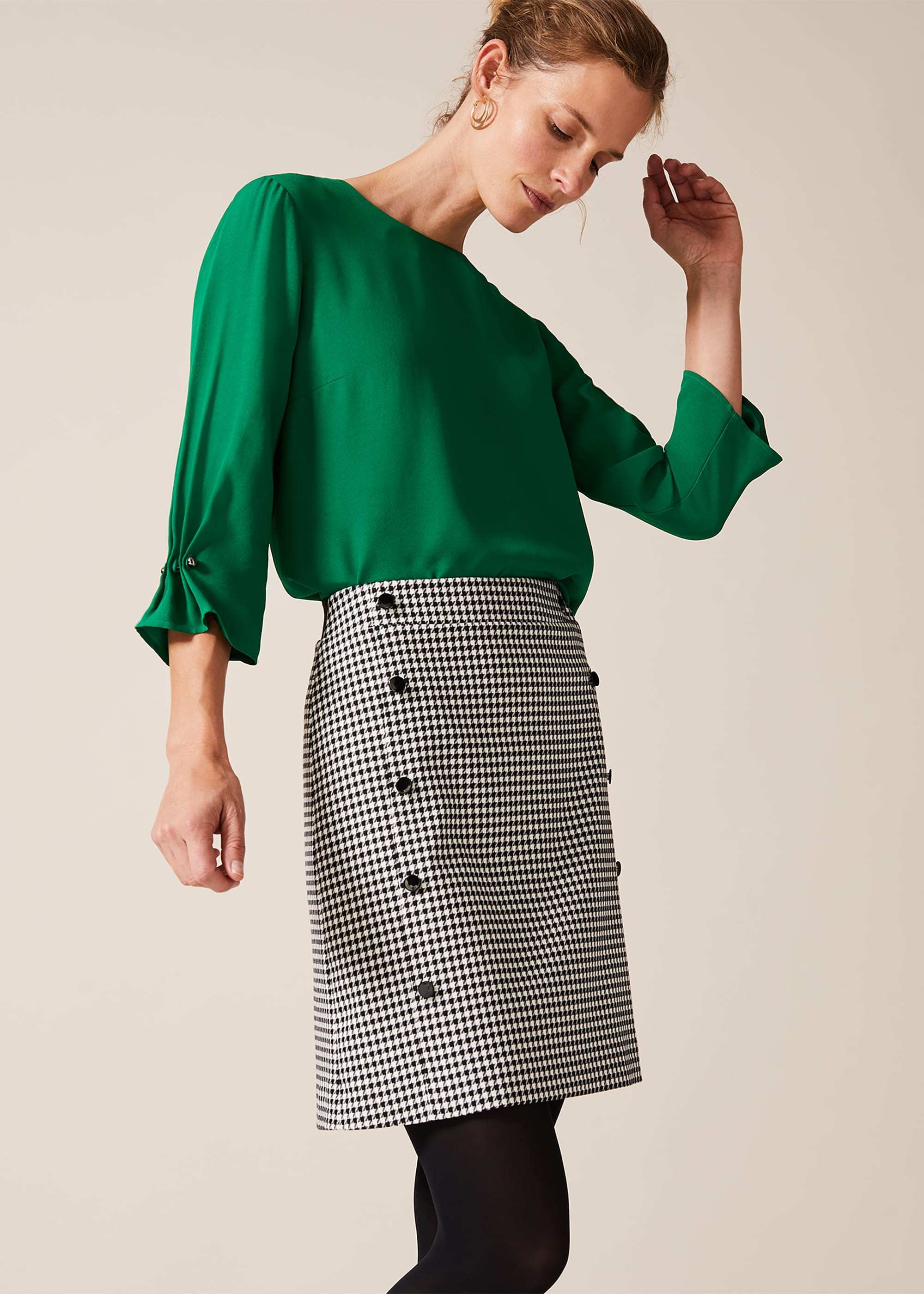 Phase Eight Women Ridley Dogtooth Skirt