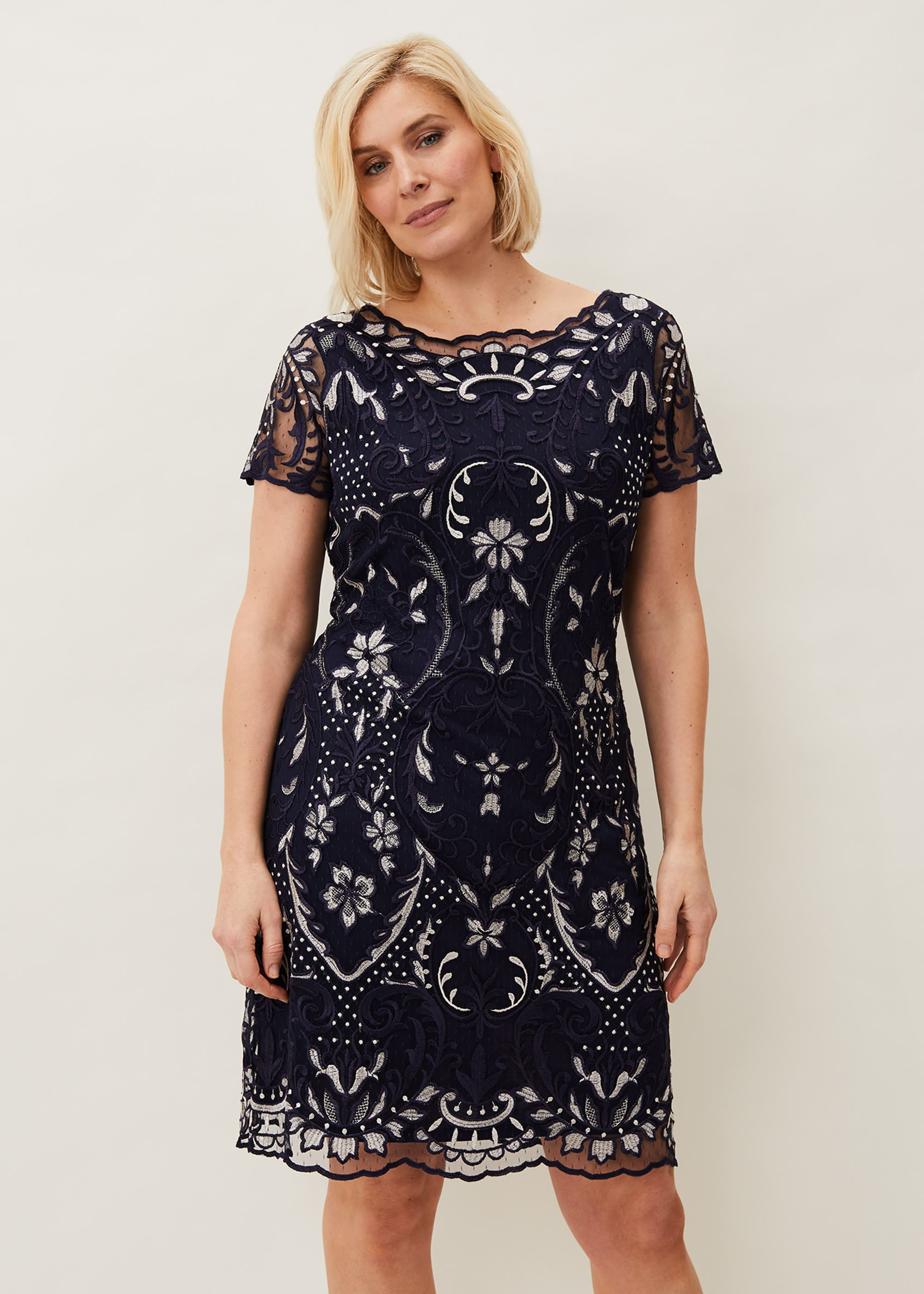 Phase Eight Women Lizzy Embroidered Dress