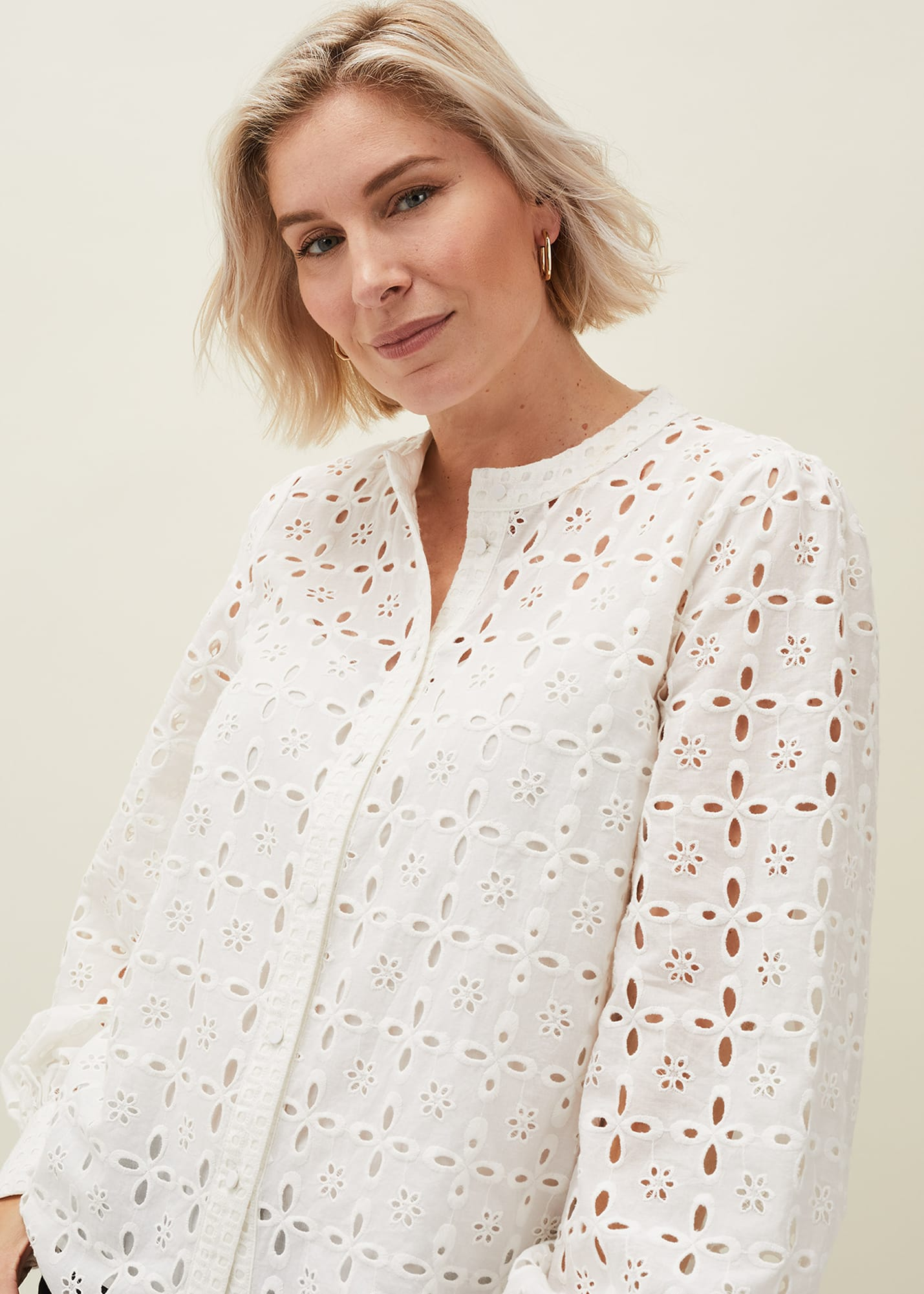 Phase Eight Women Evianna Broderie Blouse