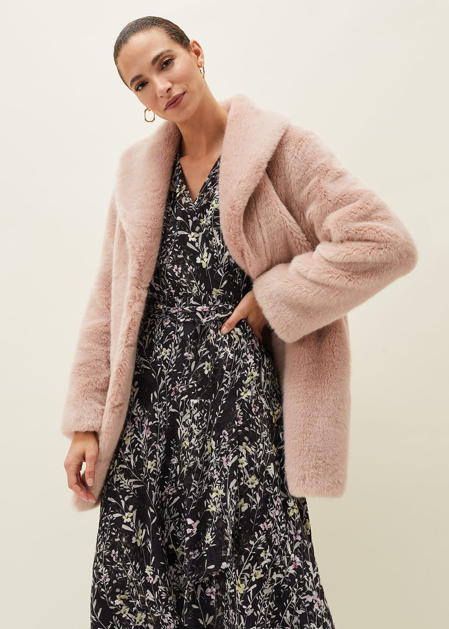 Phase Eight Women Meg Faux Fur Coat