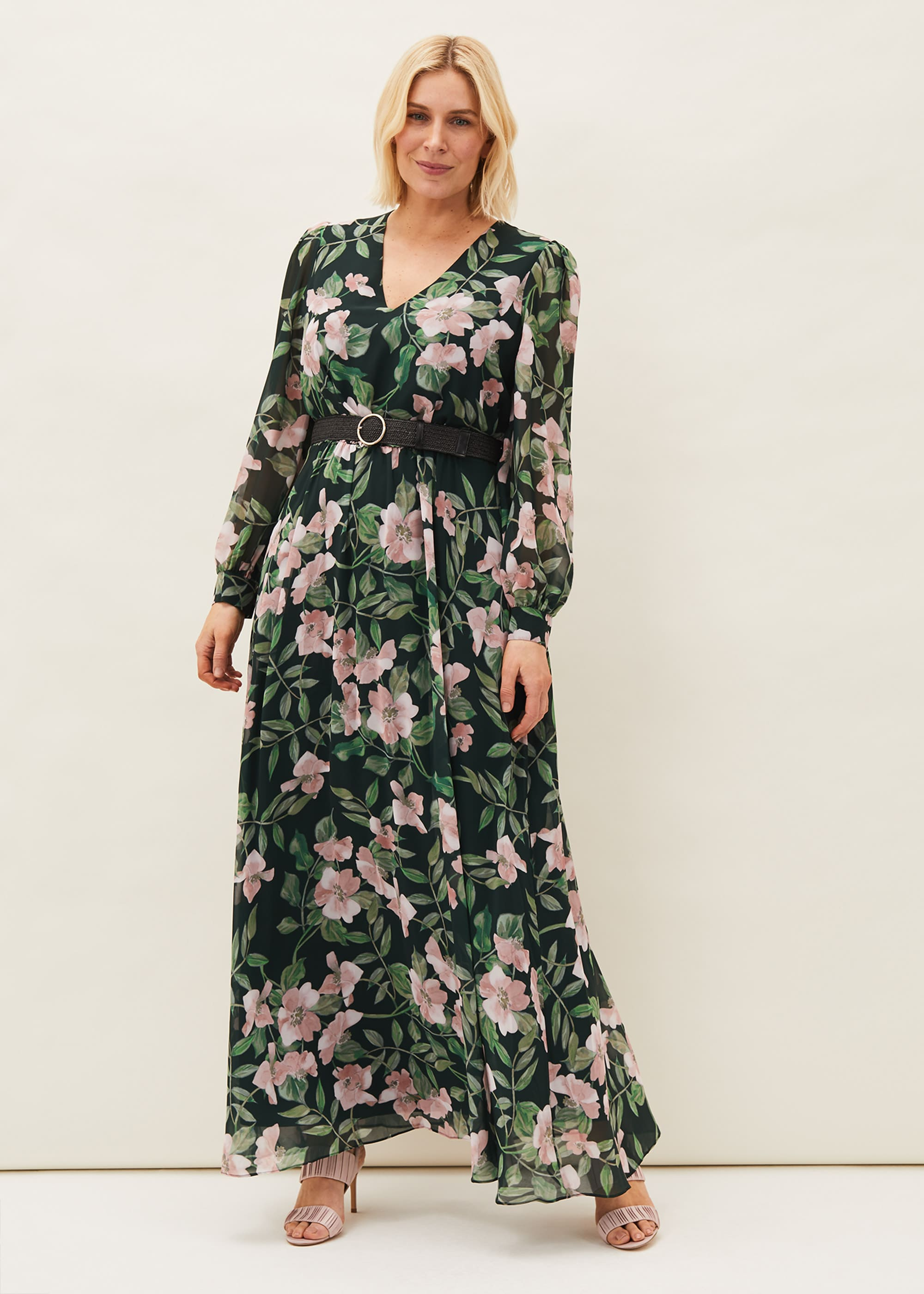 Phase Eight Women Hali Floral Belted Maxi Dress