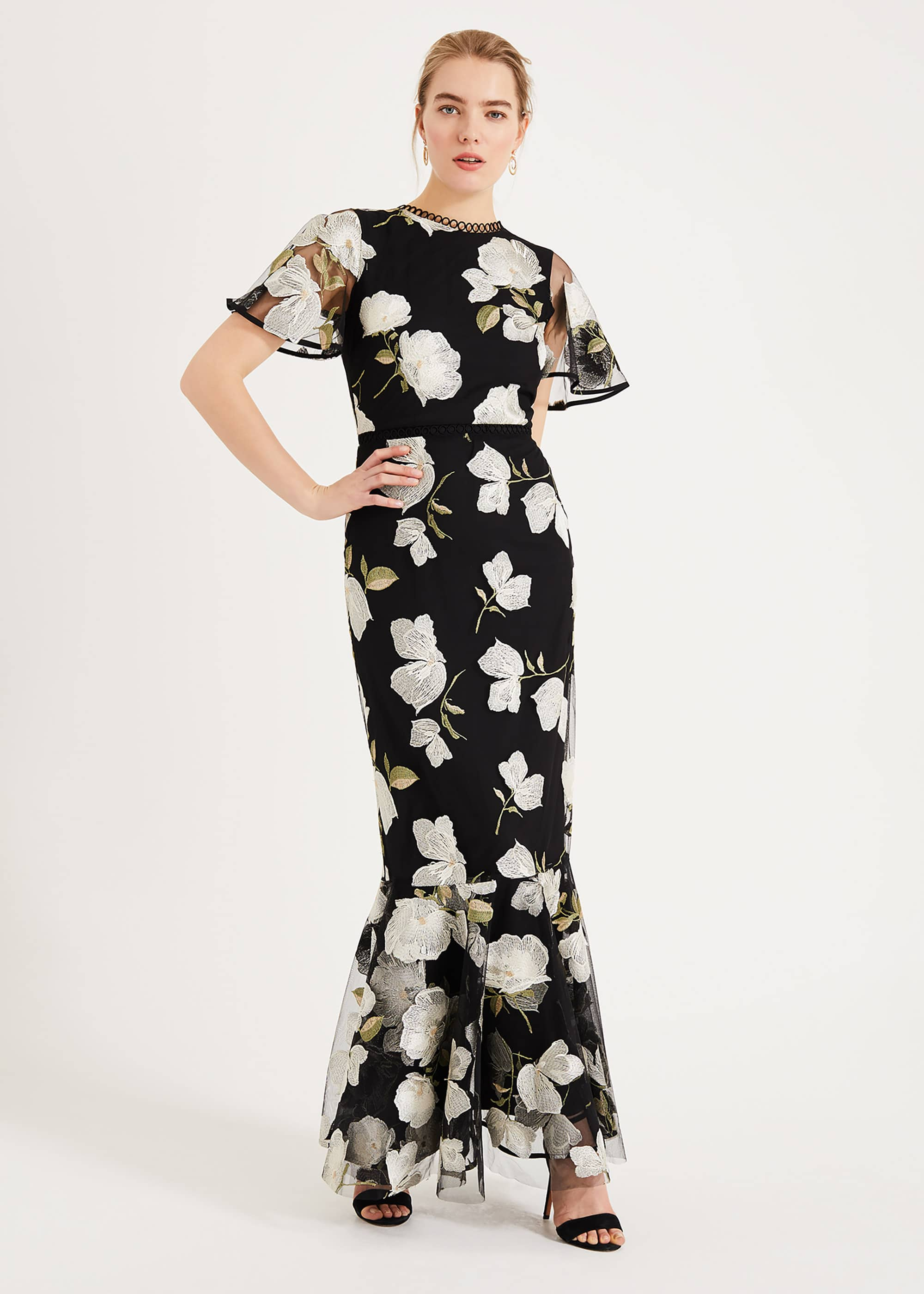 Phase Eight Women Christine Embroidered Maxi Dress