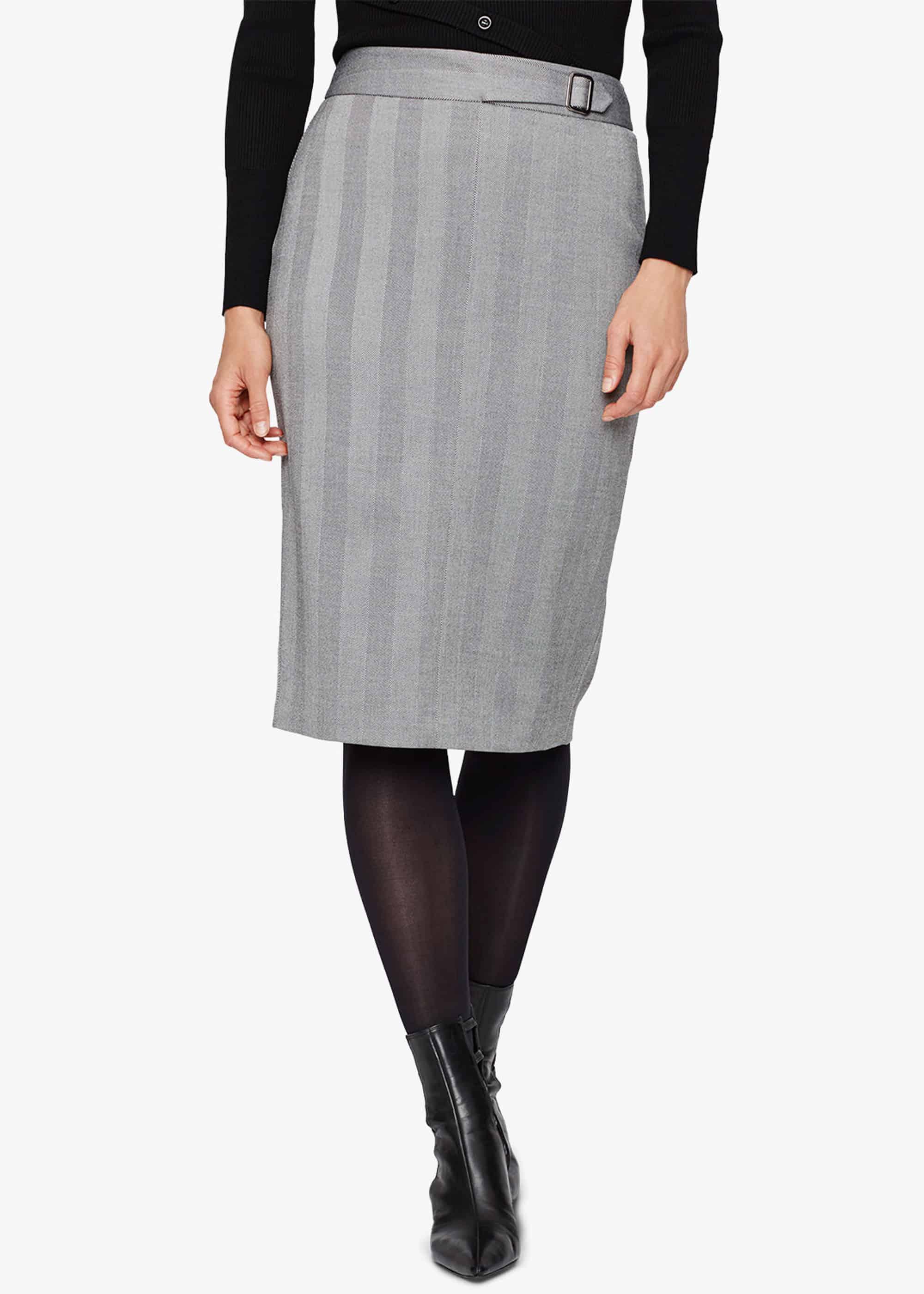 Damsel in a Dress Women Hettie Herringbone Pencil Skirt