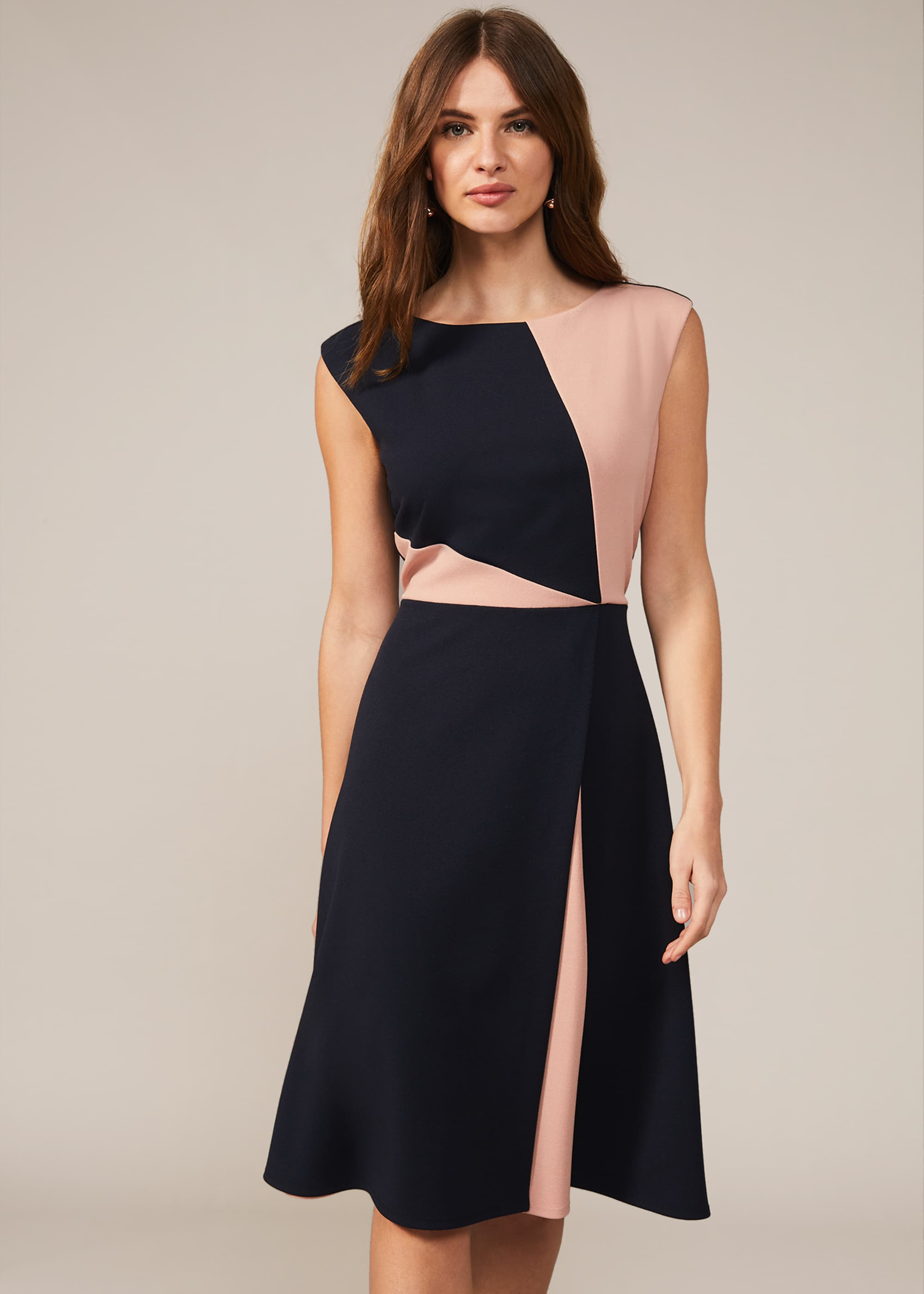 Phase Eight Women Indre Colourblock A-Line Dress