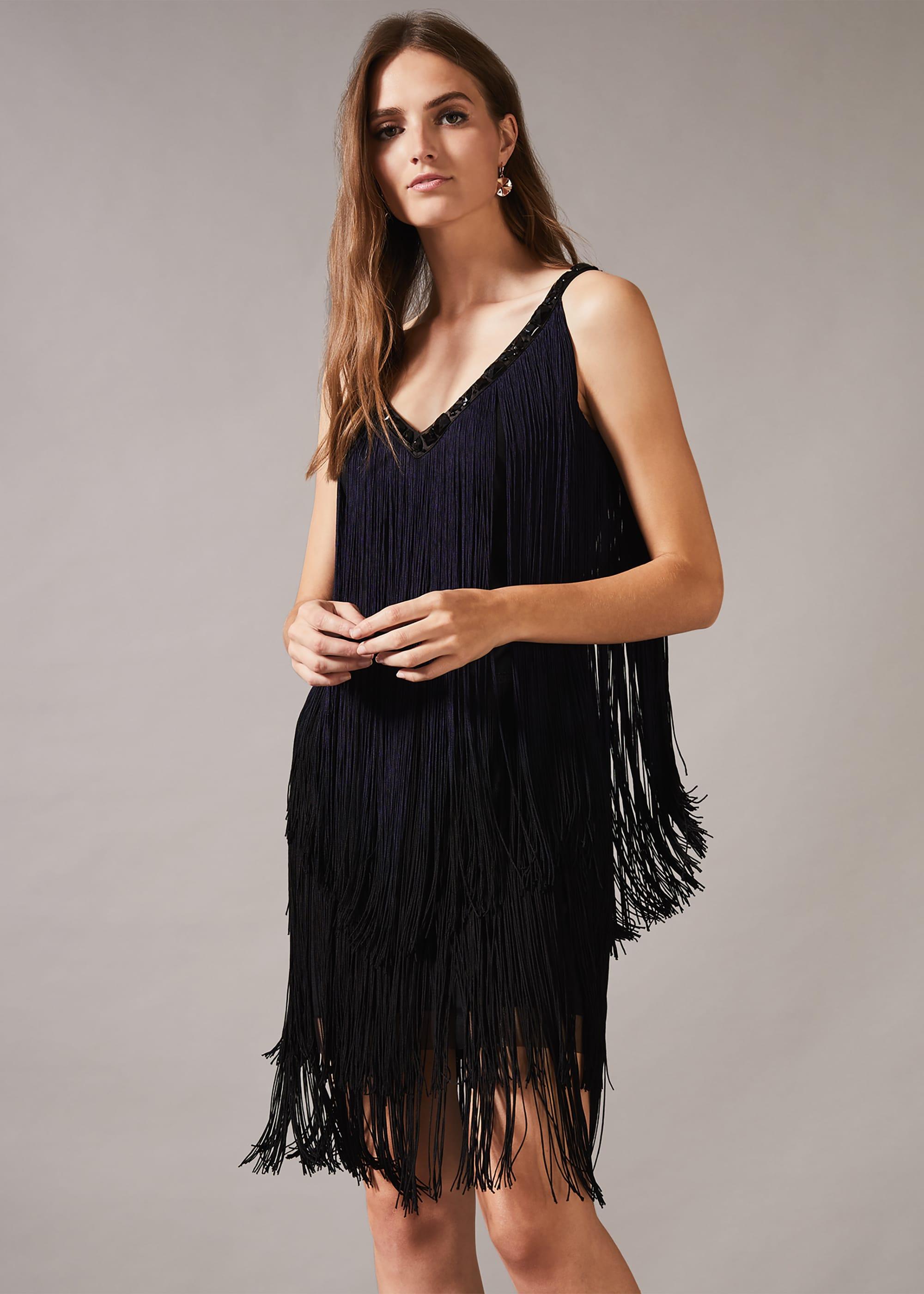 Phase Eight Women Missy Dip Dye Fringe Dress