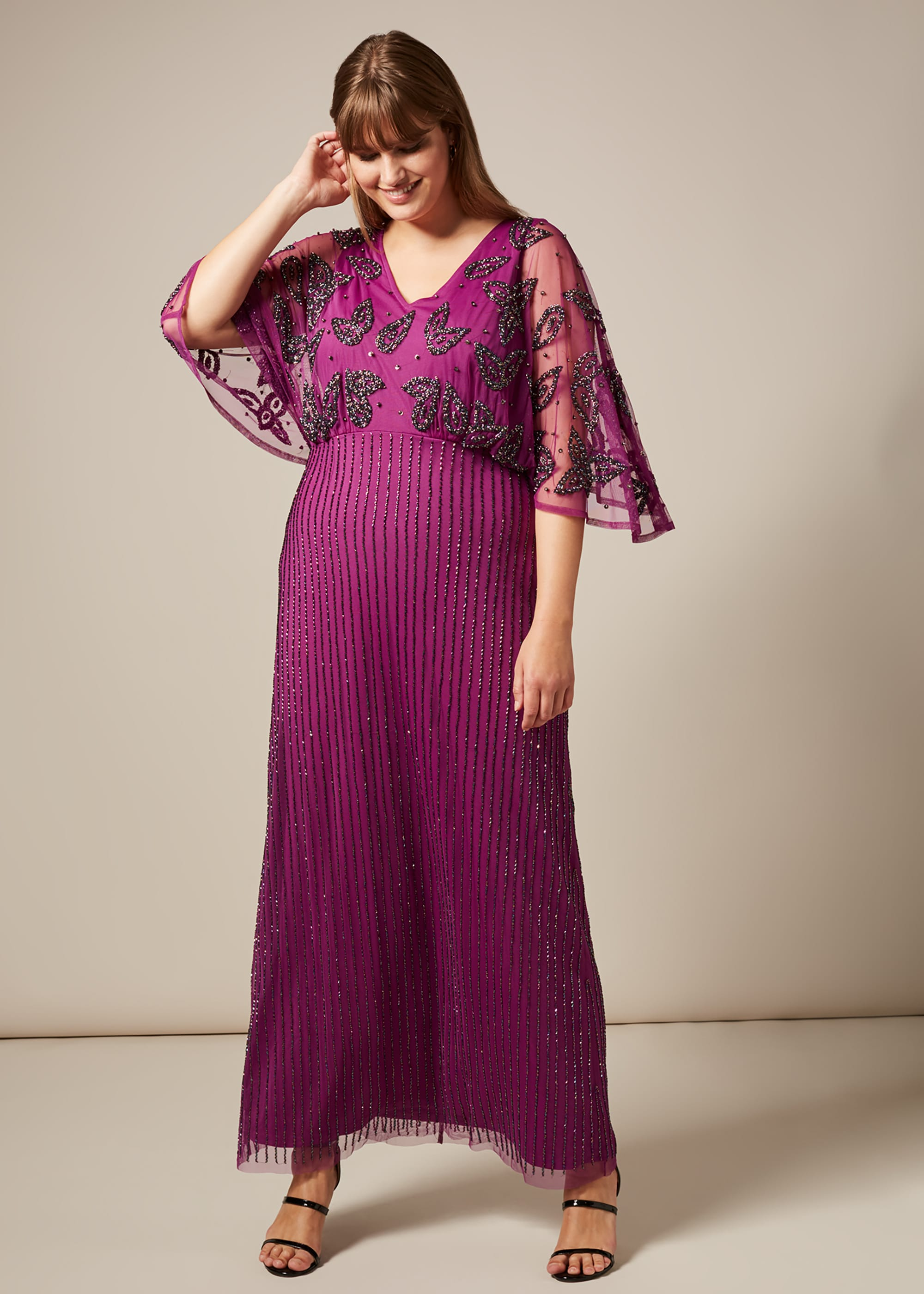Studio 8 Women Selene Beaded Maxi Dress
