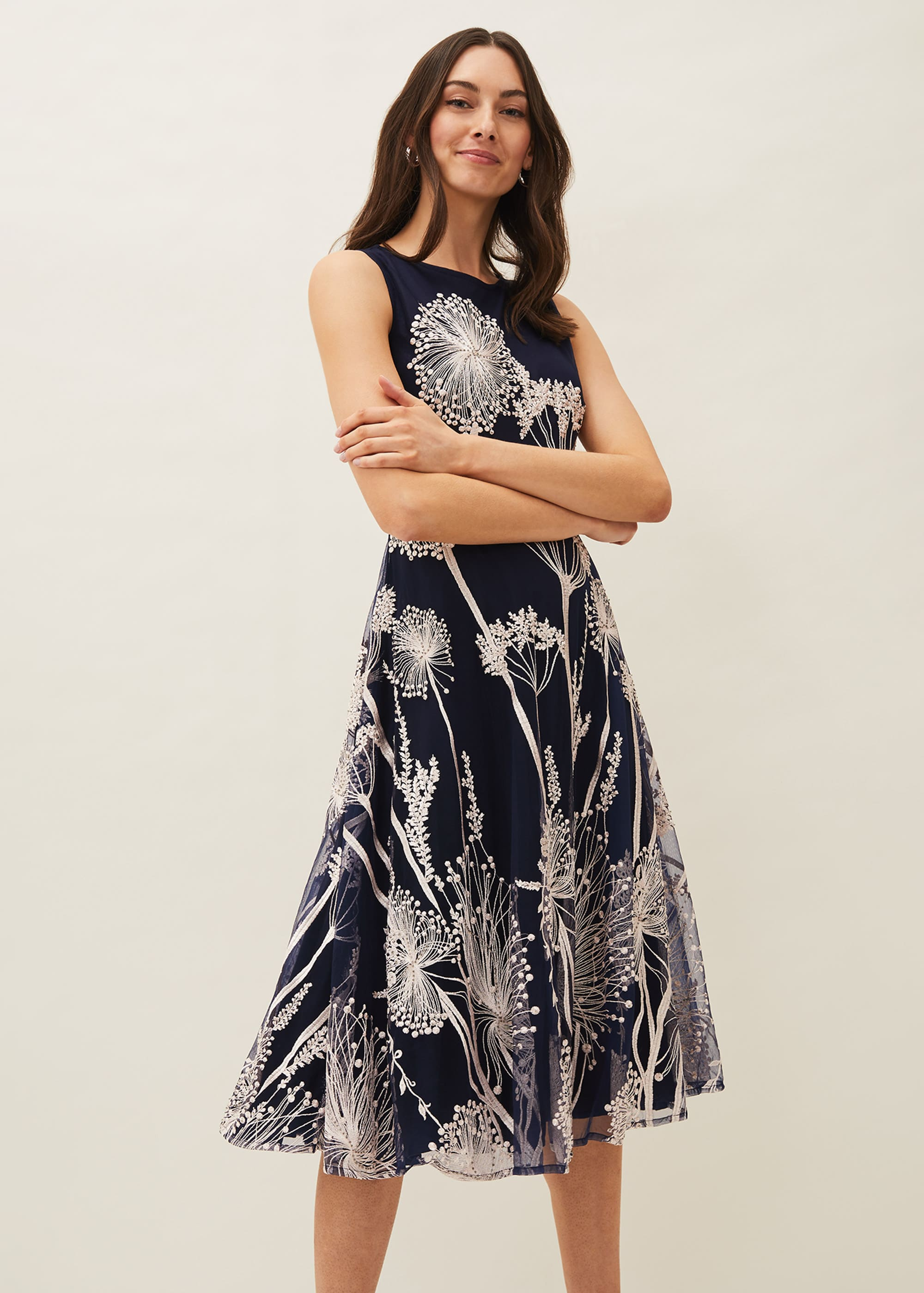 Phase Eight Women Franchesca Floral Fit and Flare Dress