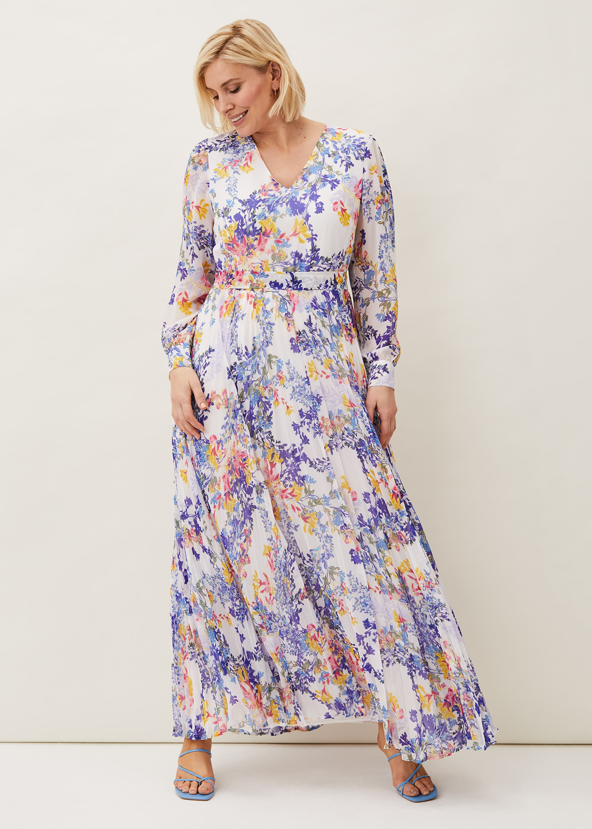 Phase Eight Women Daryl Pleated Maxi Dress