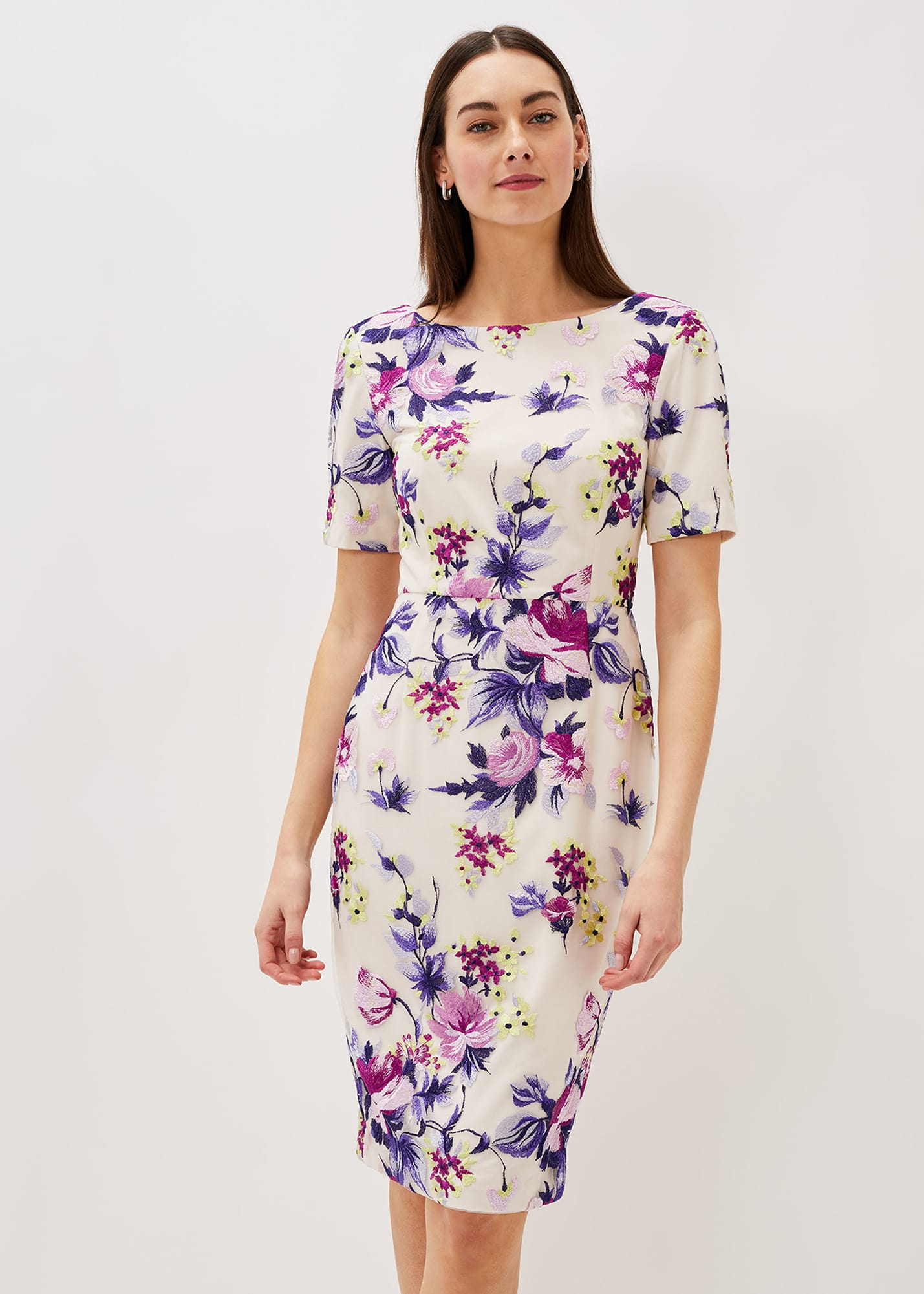 Phase Eight Women Lenora Embroidered Dress