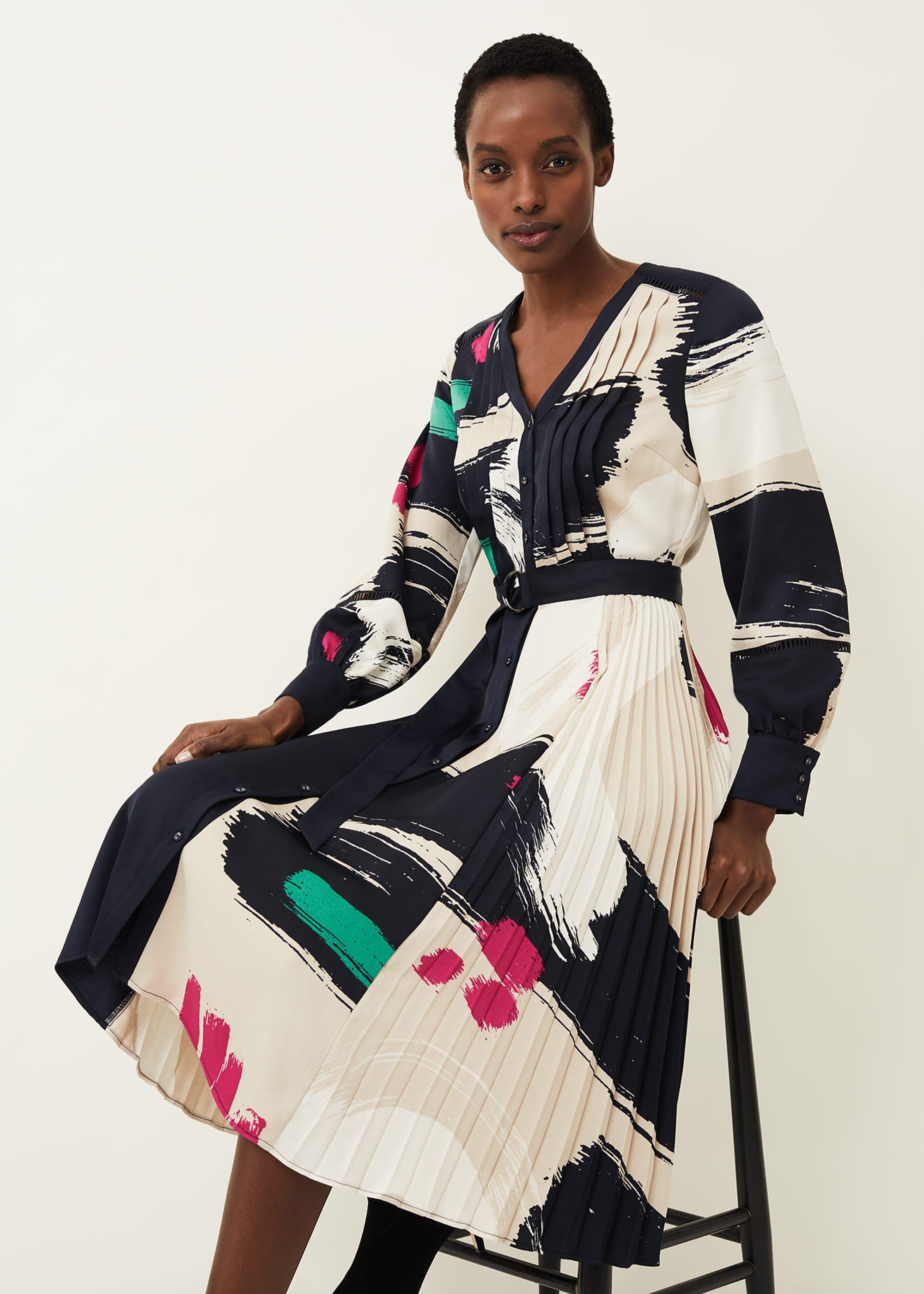 Phase Eight Women Cassidy Brushstroke Dress