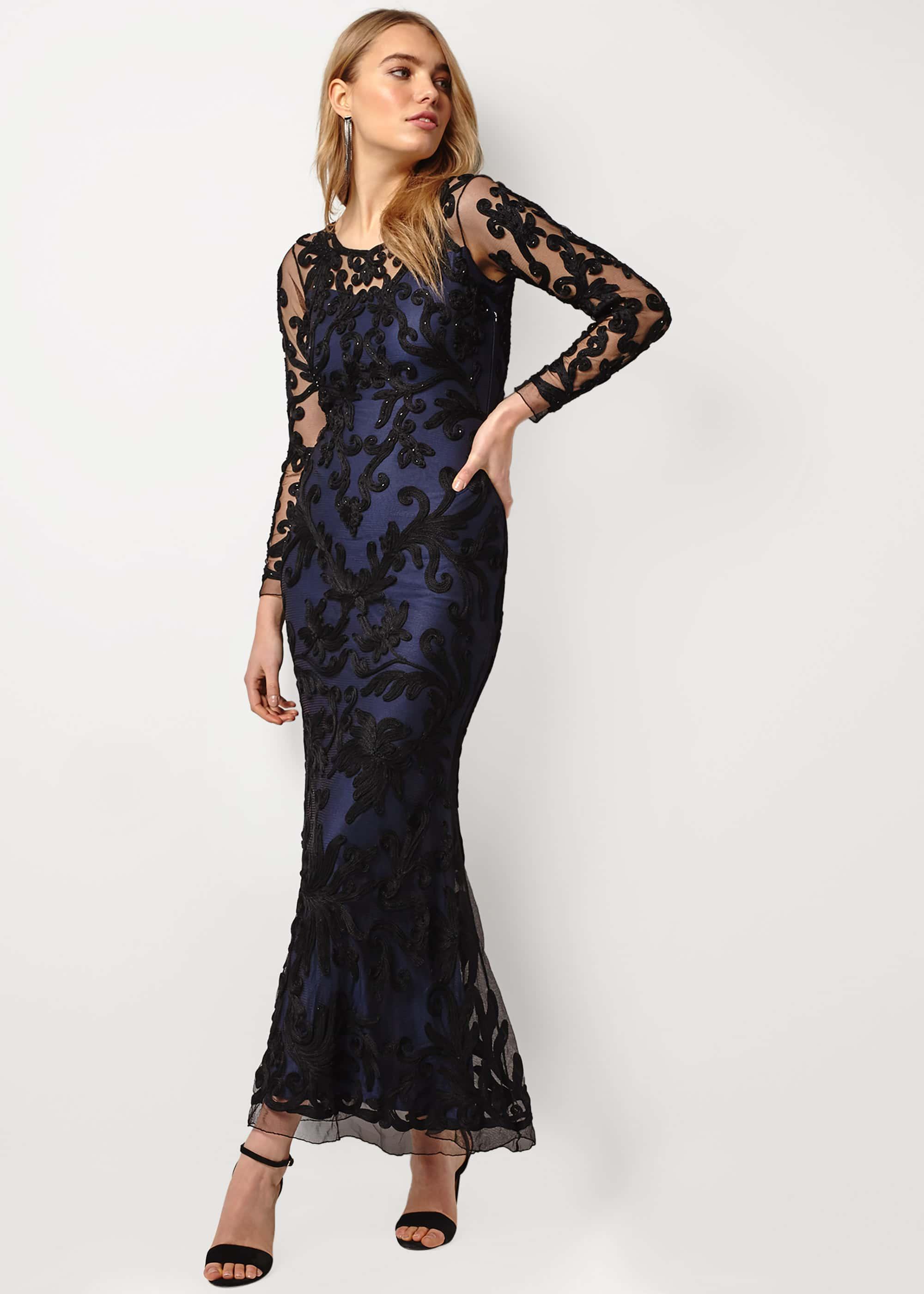 Phase Eight Women Aubree Tapework Lace Maxi Dress