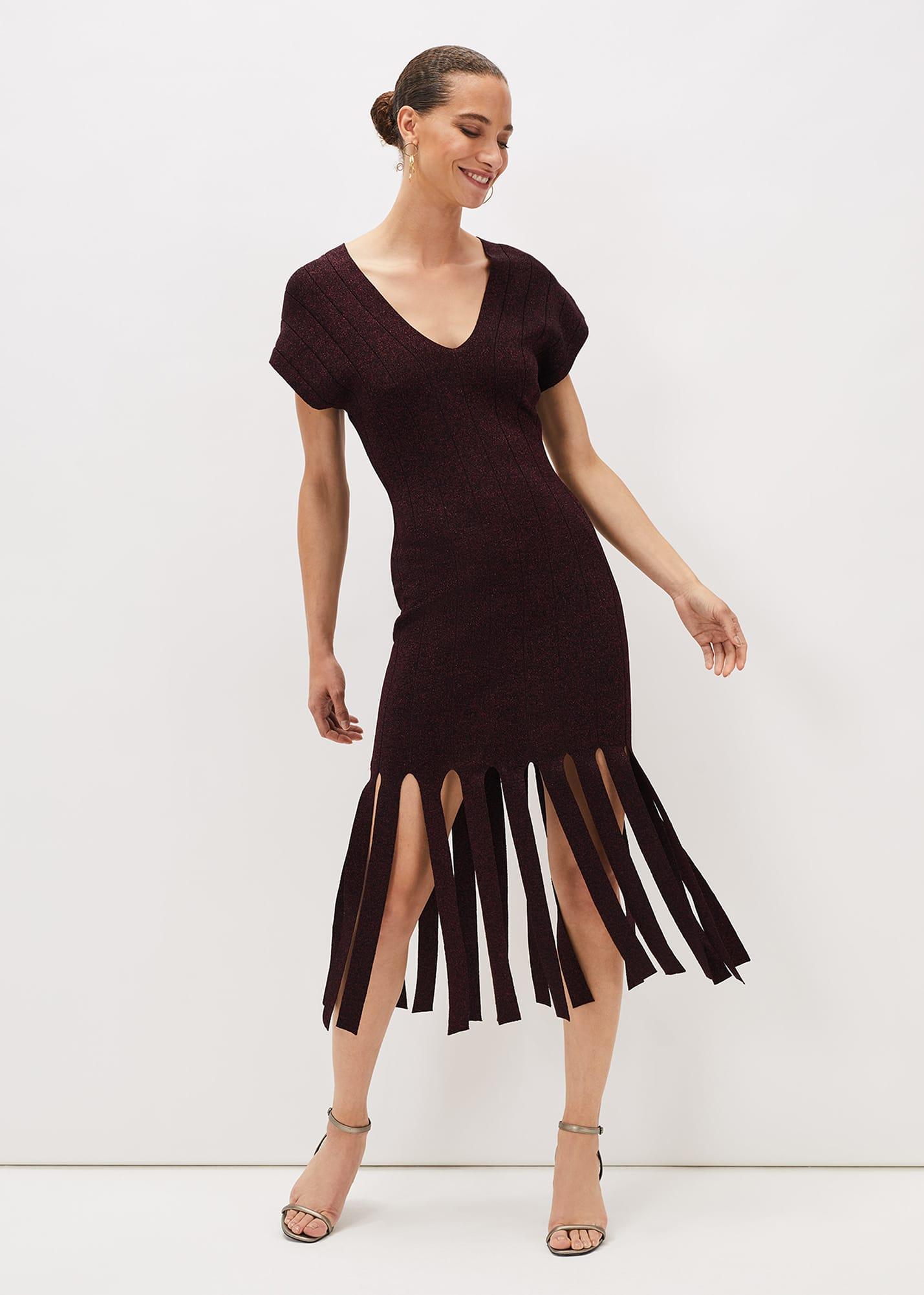 Phase Eight Women Elmeera Fringe Hem Dress
