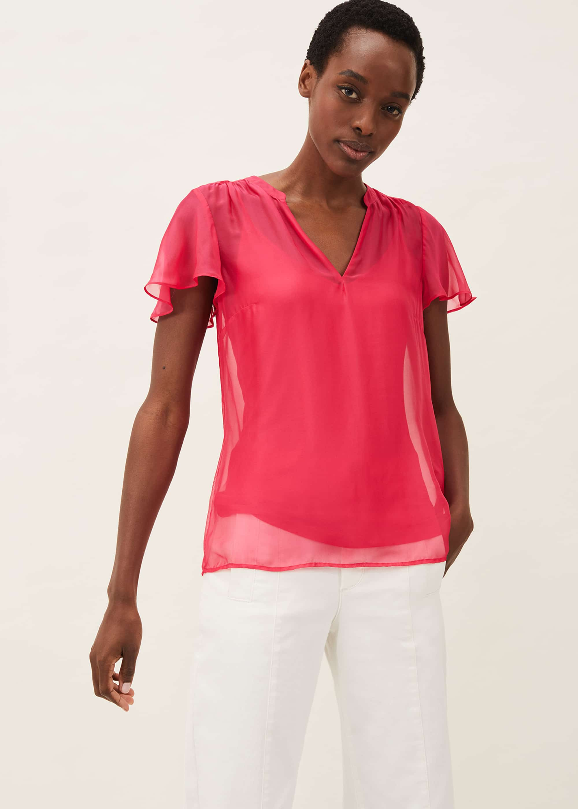 Phase Eight Women Naya Silk Fitted Blouse