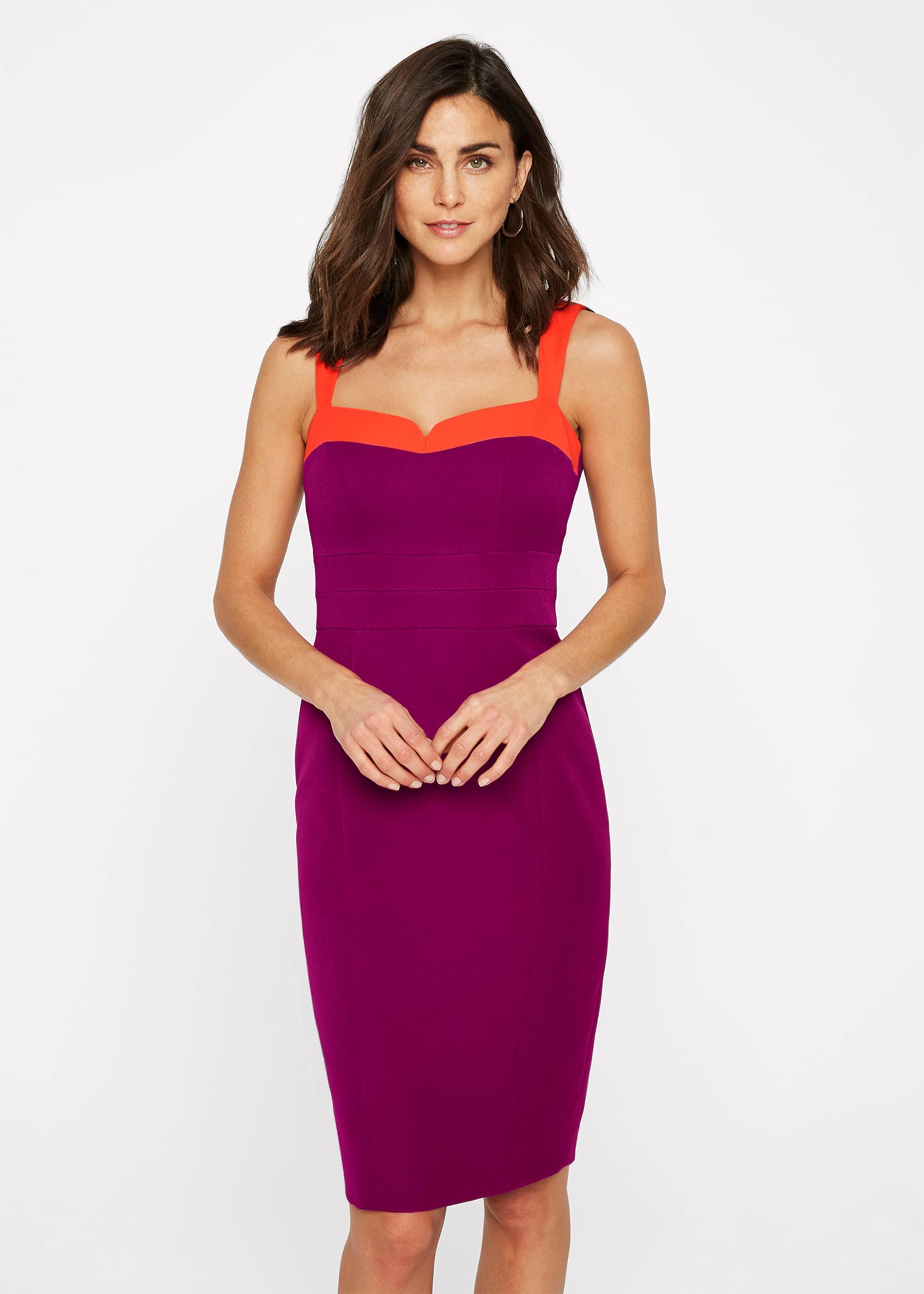 Damsel in a Dress Women Vida Colourblock Fitted Dress