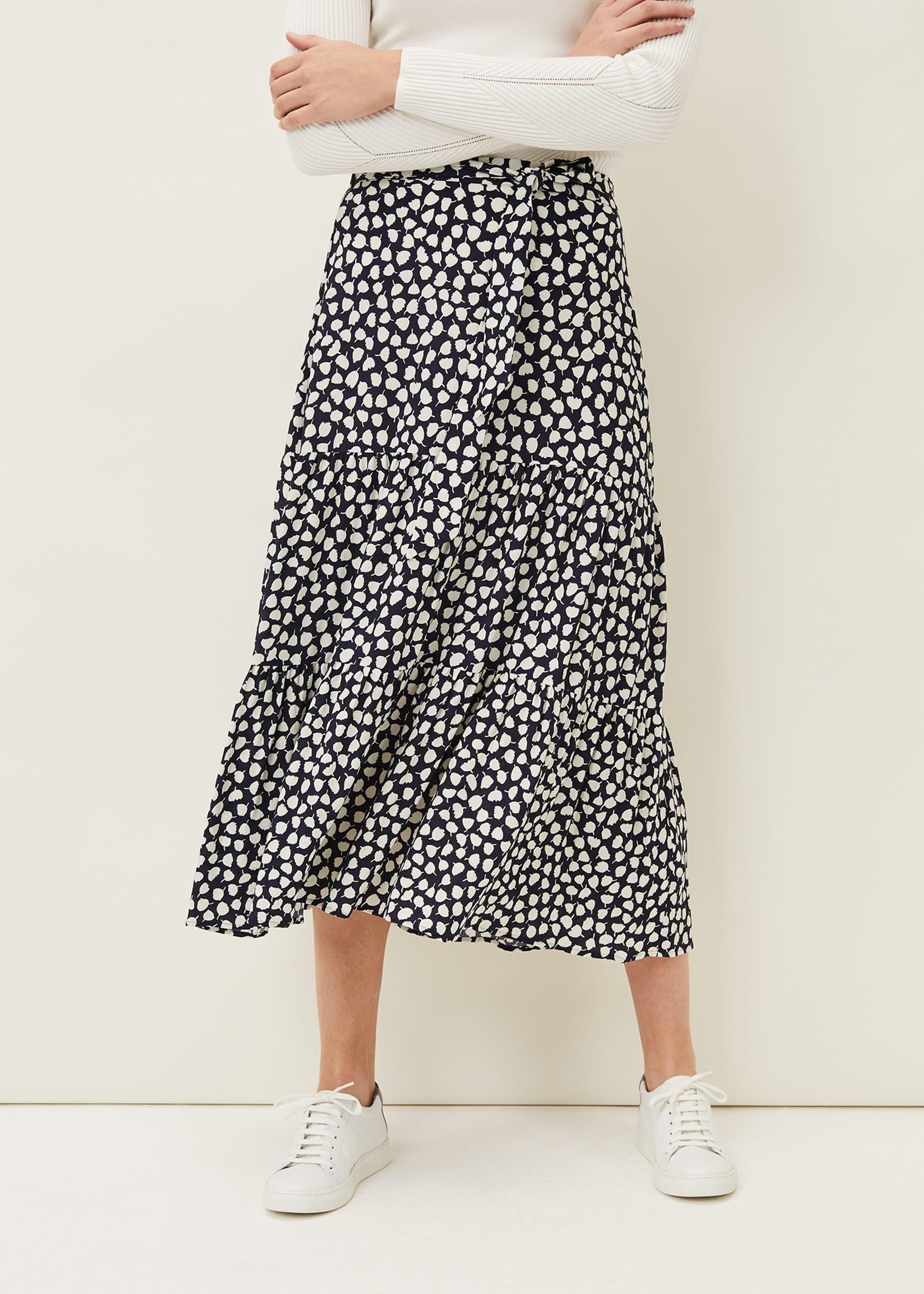 Phase Eight Women Tana Leaf Print Maxi Skirt