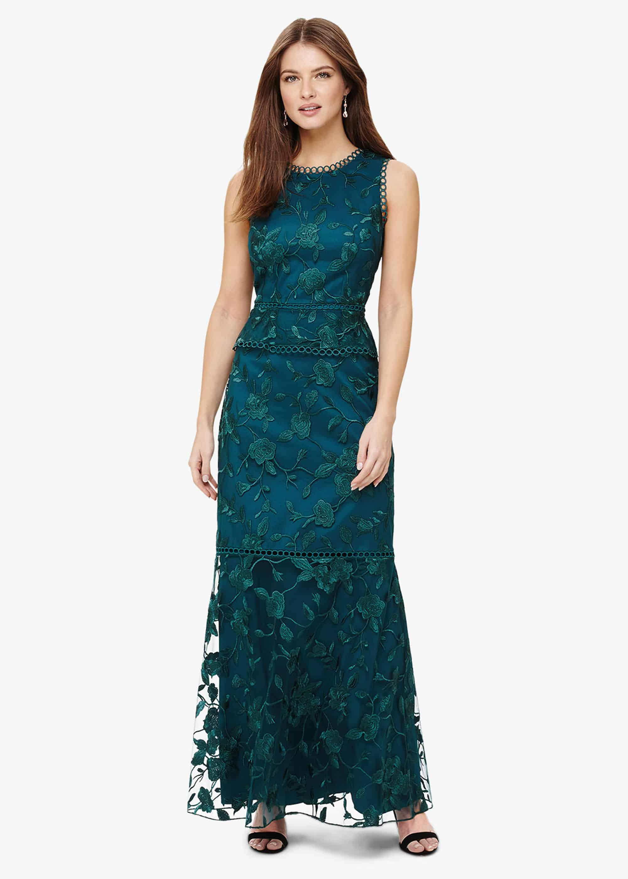 Phase Eight Women Rosetta Embroidered Maxi Dress
