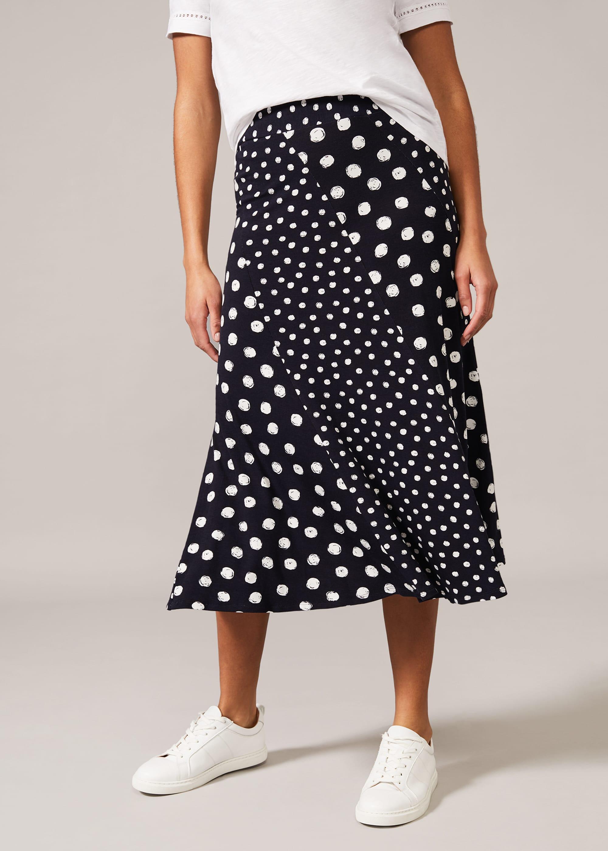 Phase Eight Women Denia Mixed Spot Panelled Skirt