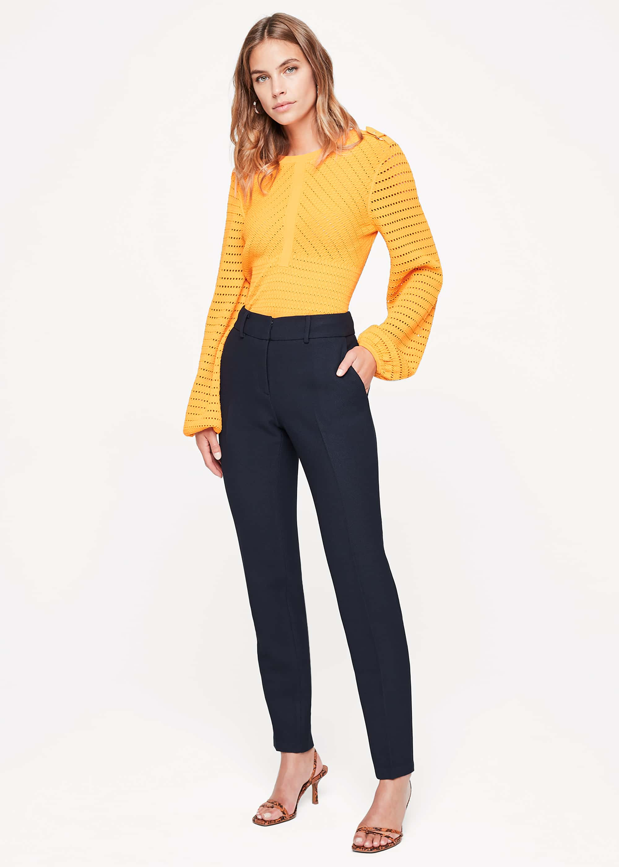 Damsel in a Dress Women Shanna Textured Tapered Trousers