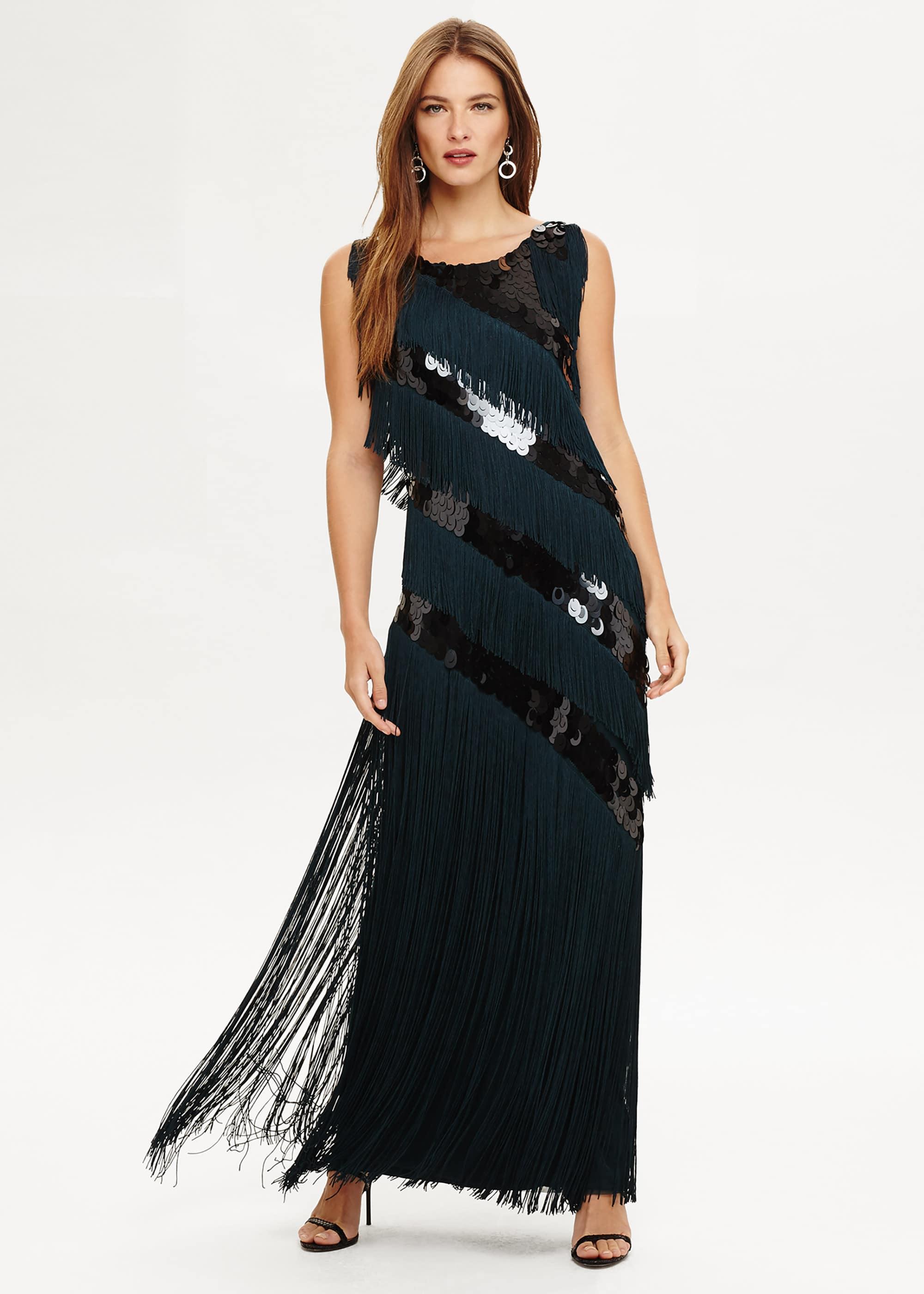 Phase Eight Women Annabeth Fringe Maxi Dress