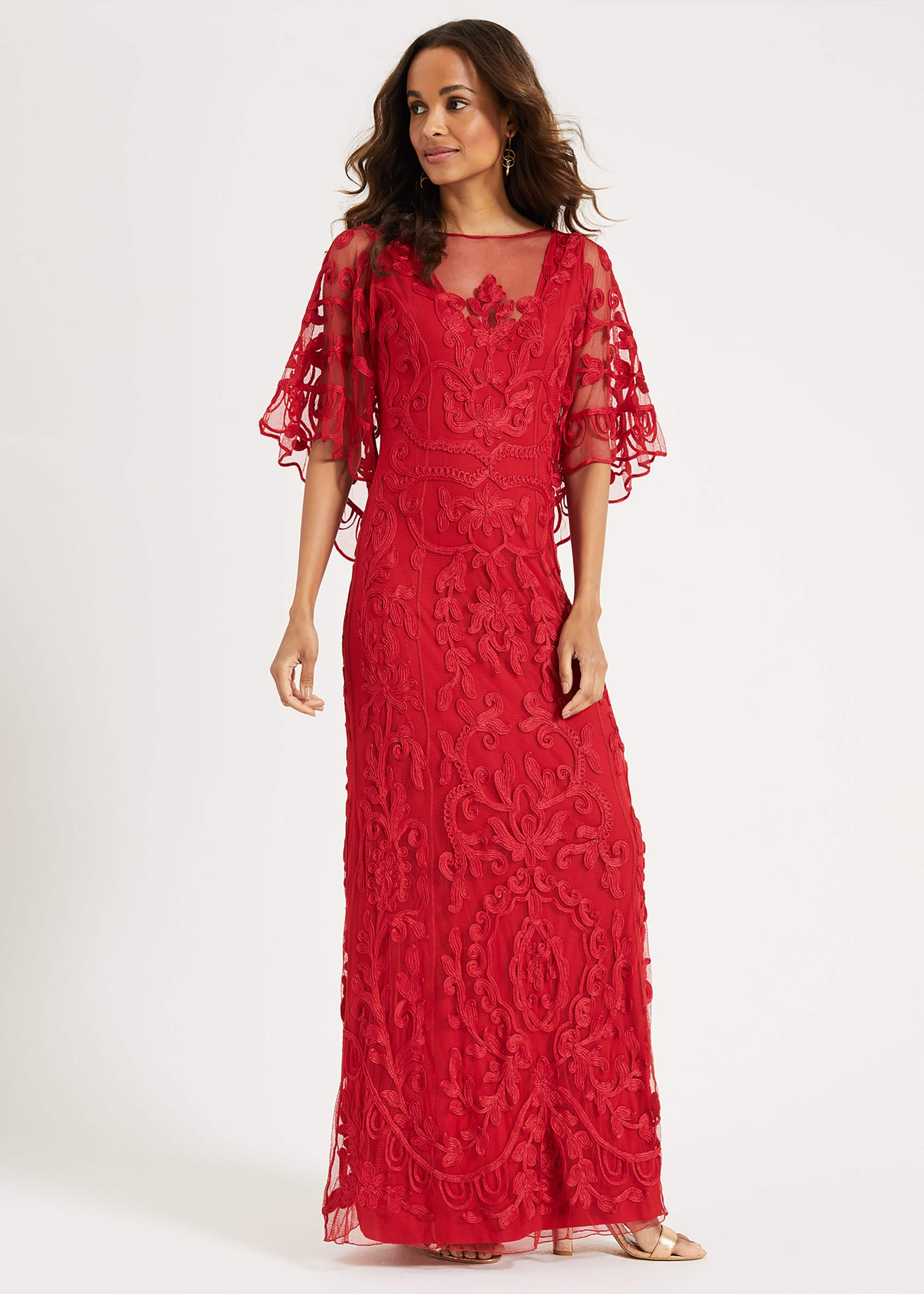 Phase Eight Women Aviana Tapework Lace Maxi Dress
