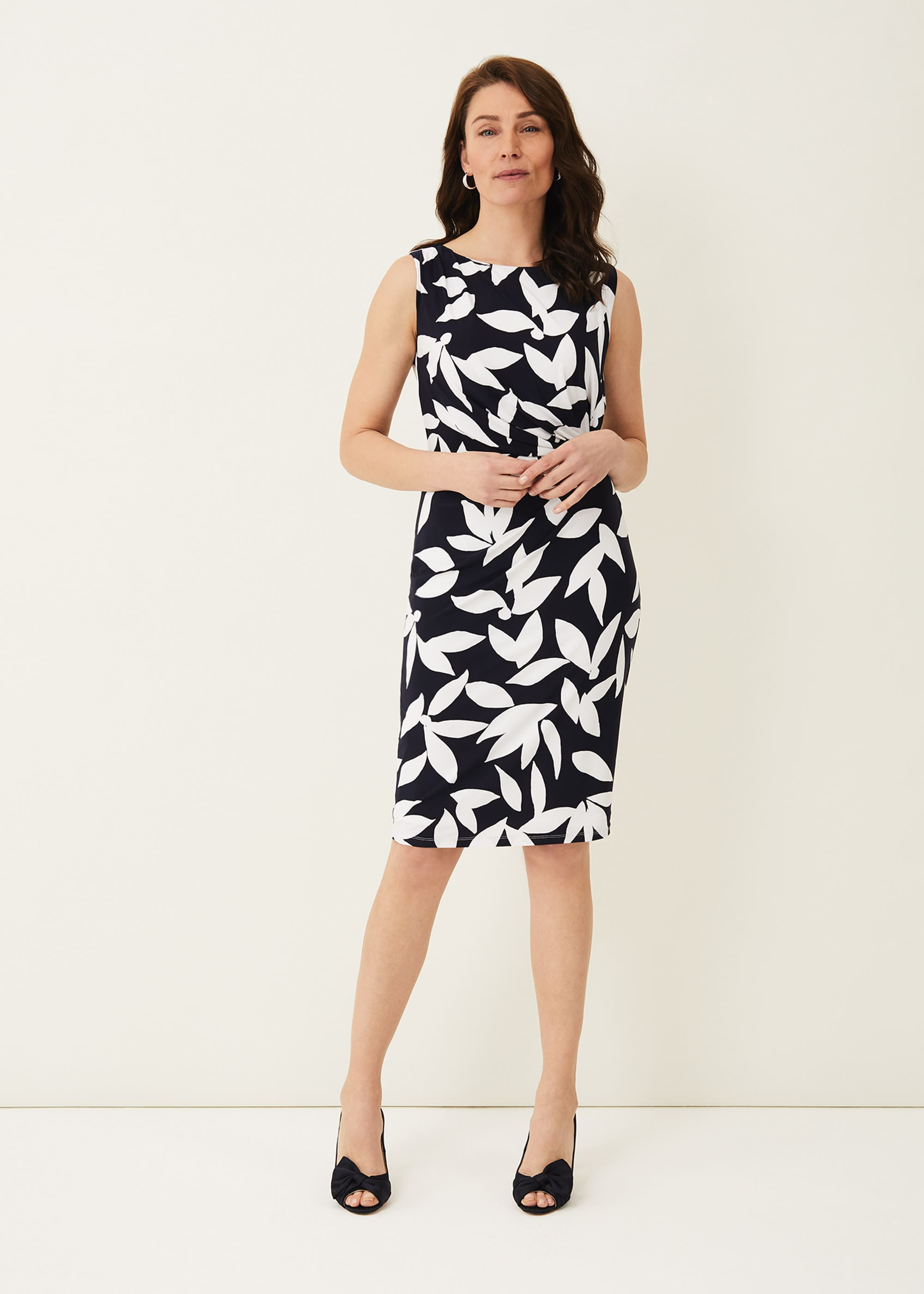 Phase Eight Women Ciera Leaf Print Dress