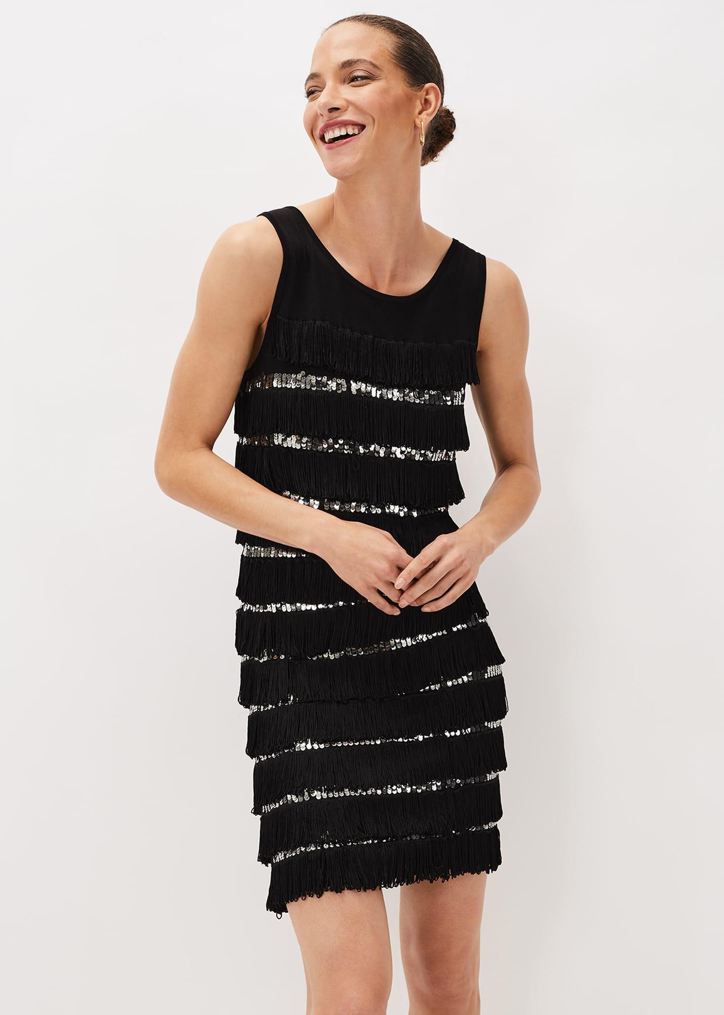 Phase Eight Women Sofianne Sequin Fringe Dress