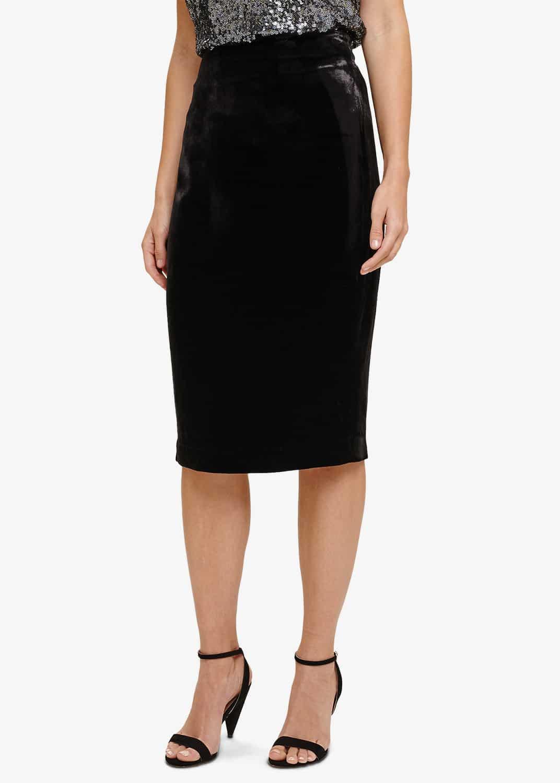 Phase Eight Women Violetta Velvet Pencil Skirt