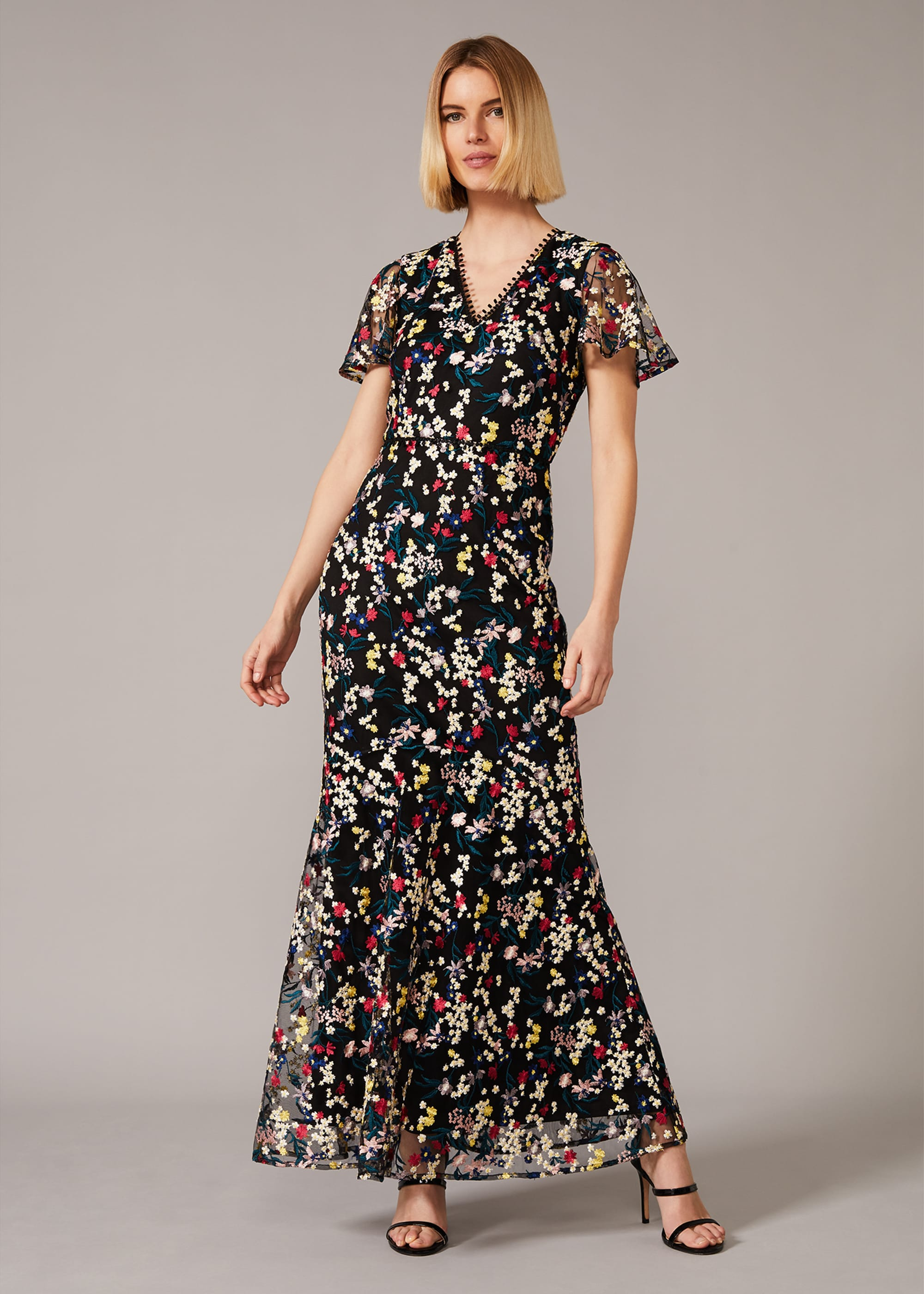 Phase Eight Women Daiva Embroidered Fishtail Dress