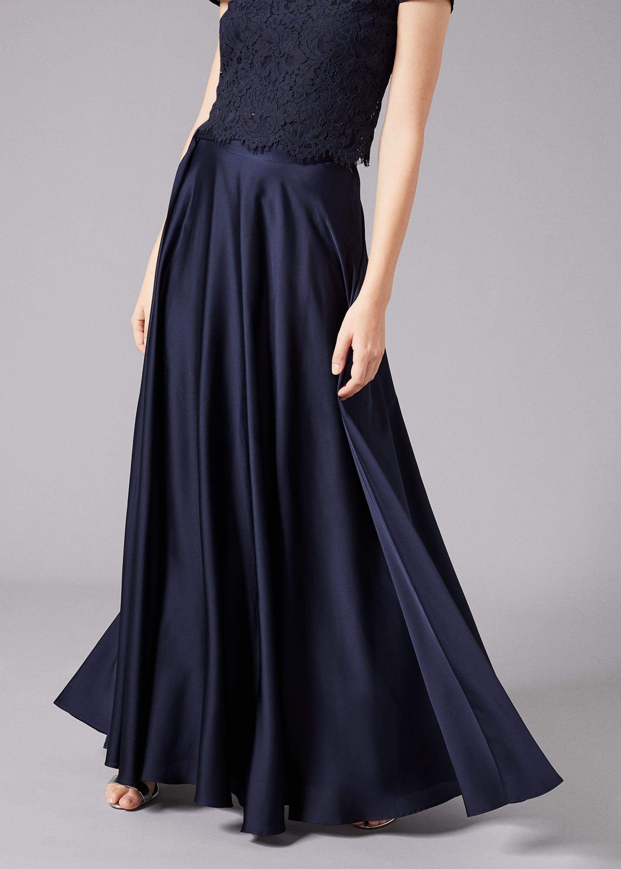 Phase Eight Women Zoe Satin Maxi Skirt