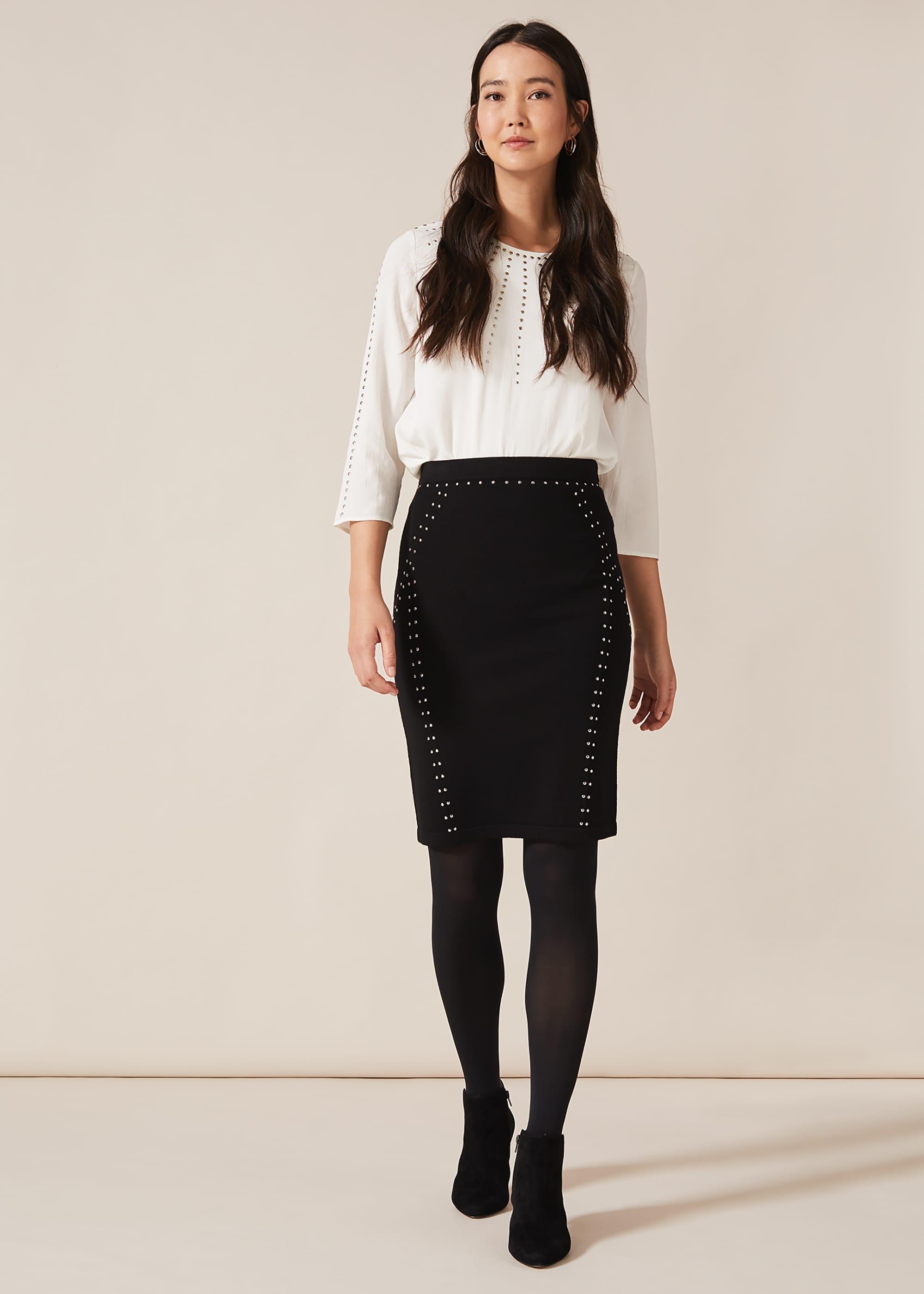 Phase Eight Women Sophie Stud Detail Skirt