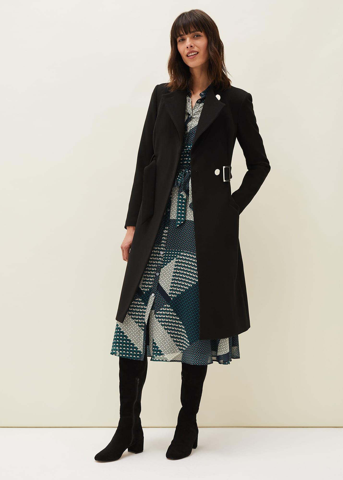 Phase Eight Women Susie Collarless Wrap Coat