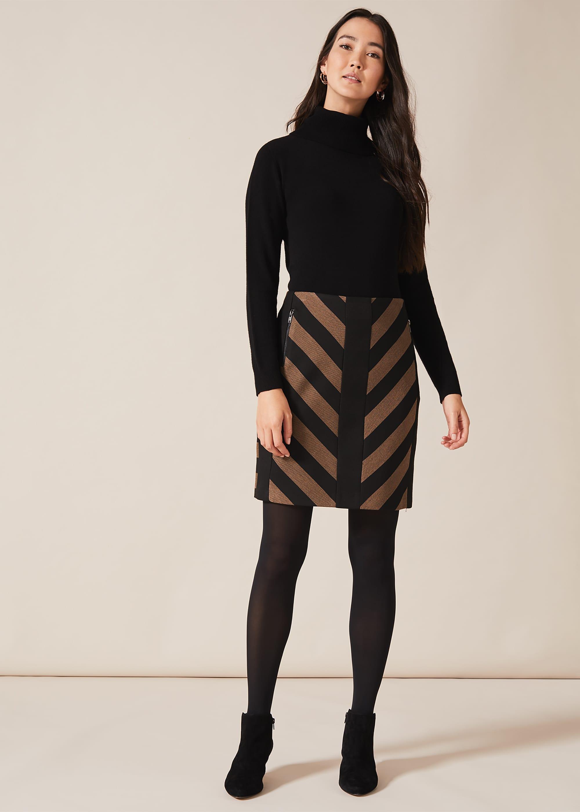 Phase Eight Women Mirren Chevron Skirt