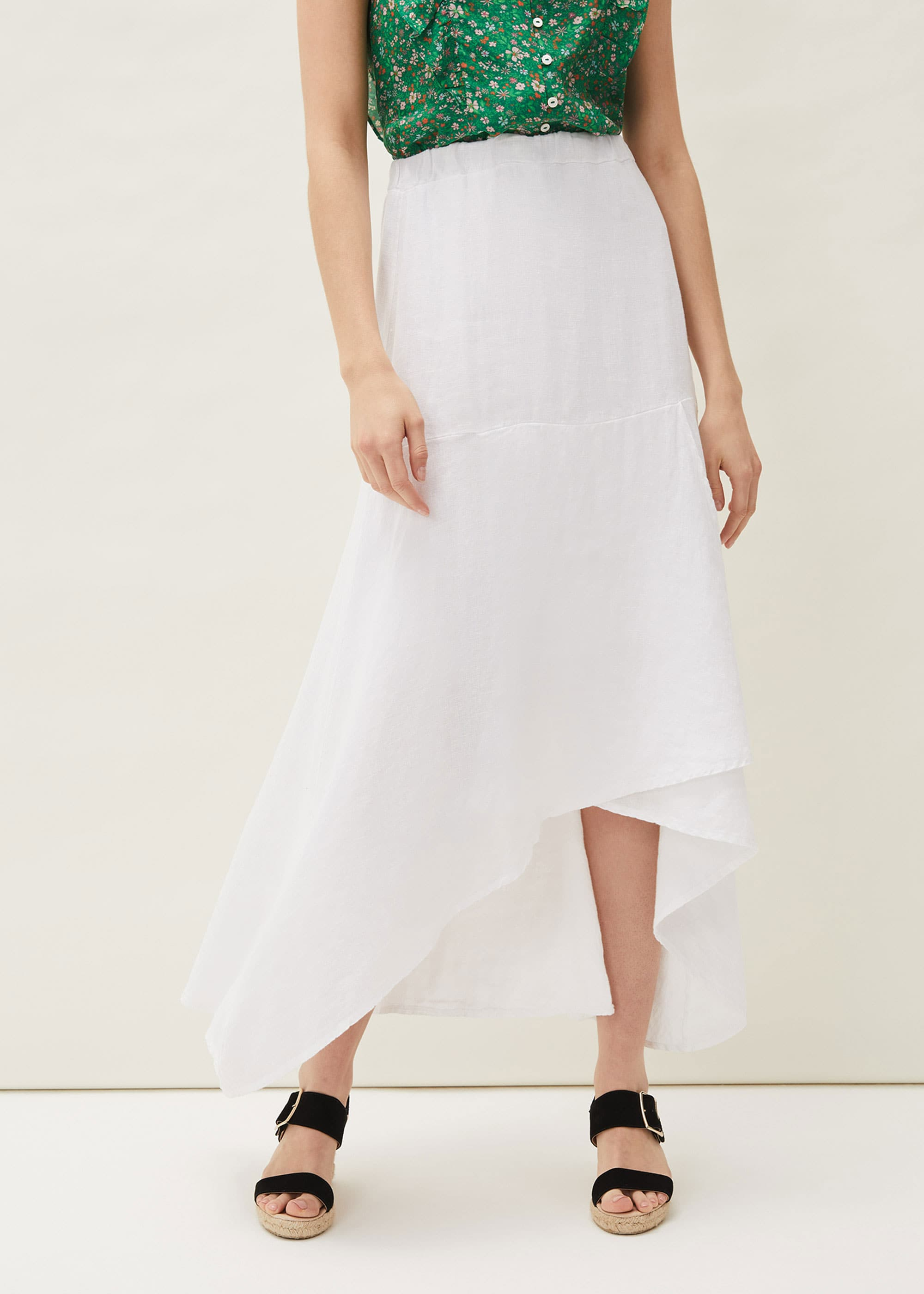 Phase Eight Women Phoebe Faux Wrap Linen Skirt