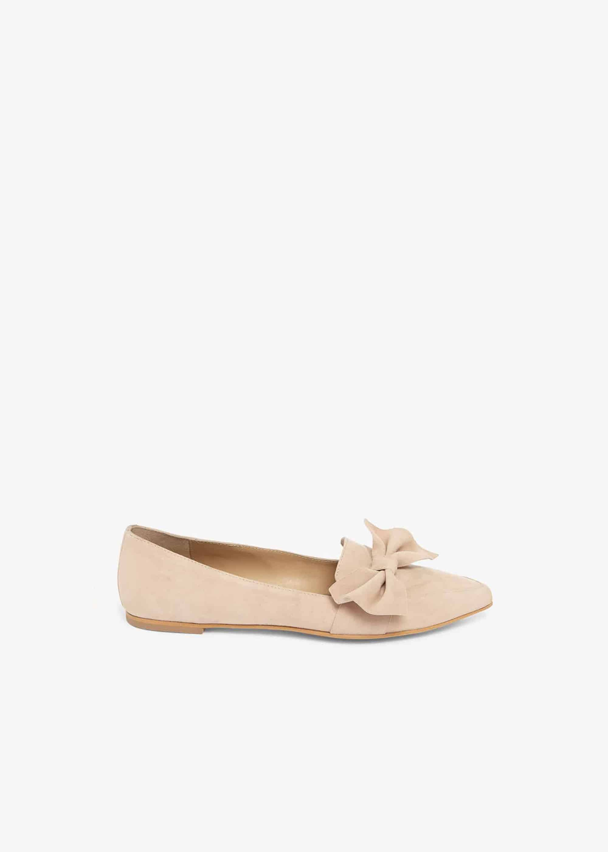 Phase Eight Women Salome Leather Side Bow Flat Shoes