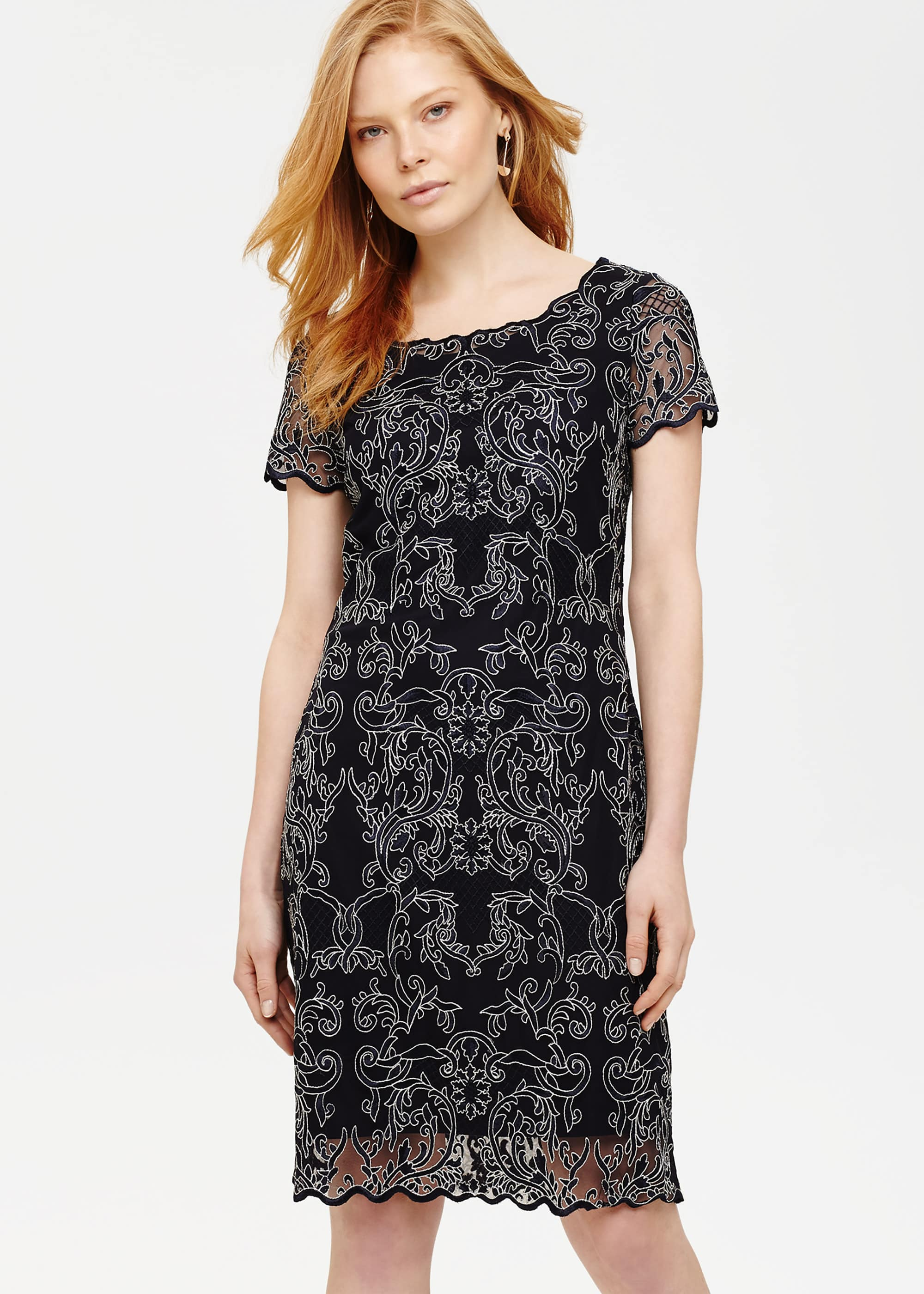 Phase Eight Women Tatiana Embroidered Dress