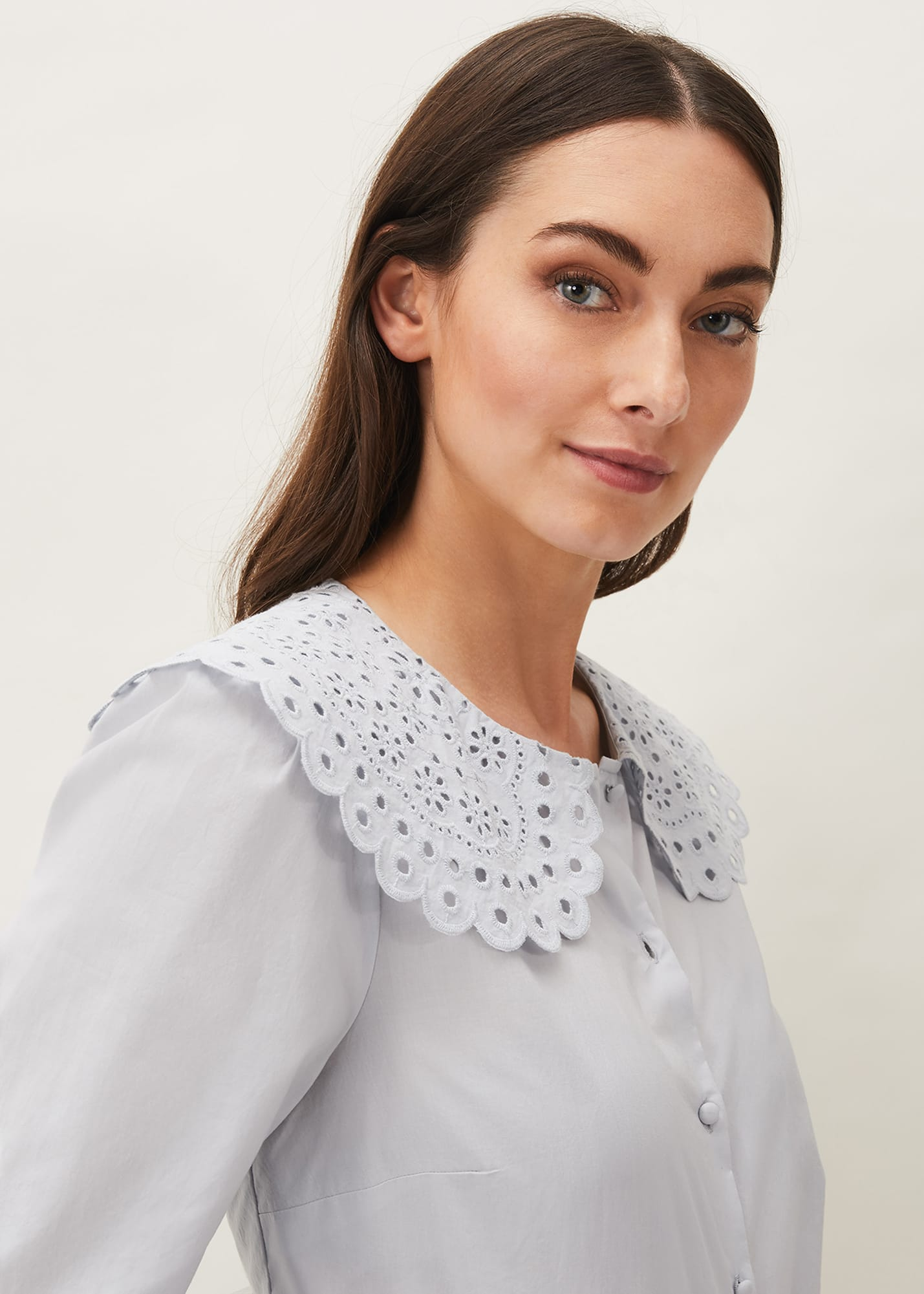 Phase Eight Women Amelia Oversized Embroidered Collar Blouse